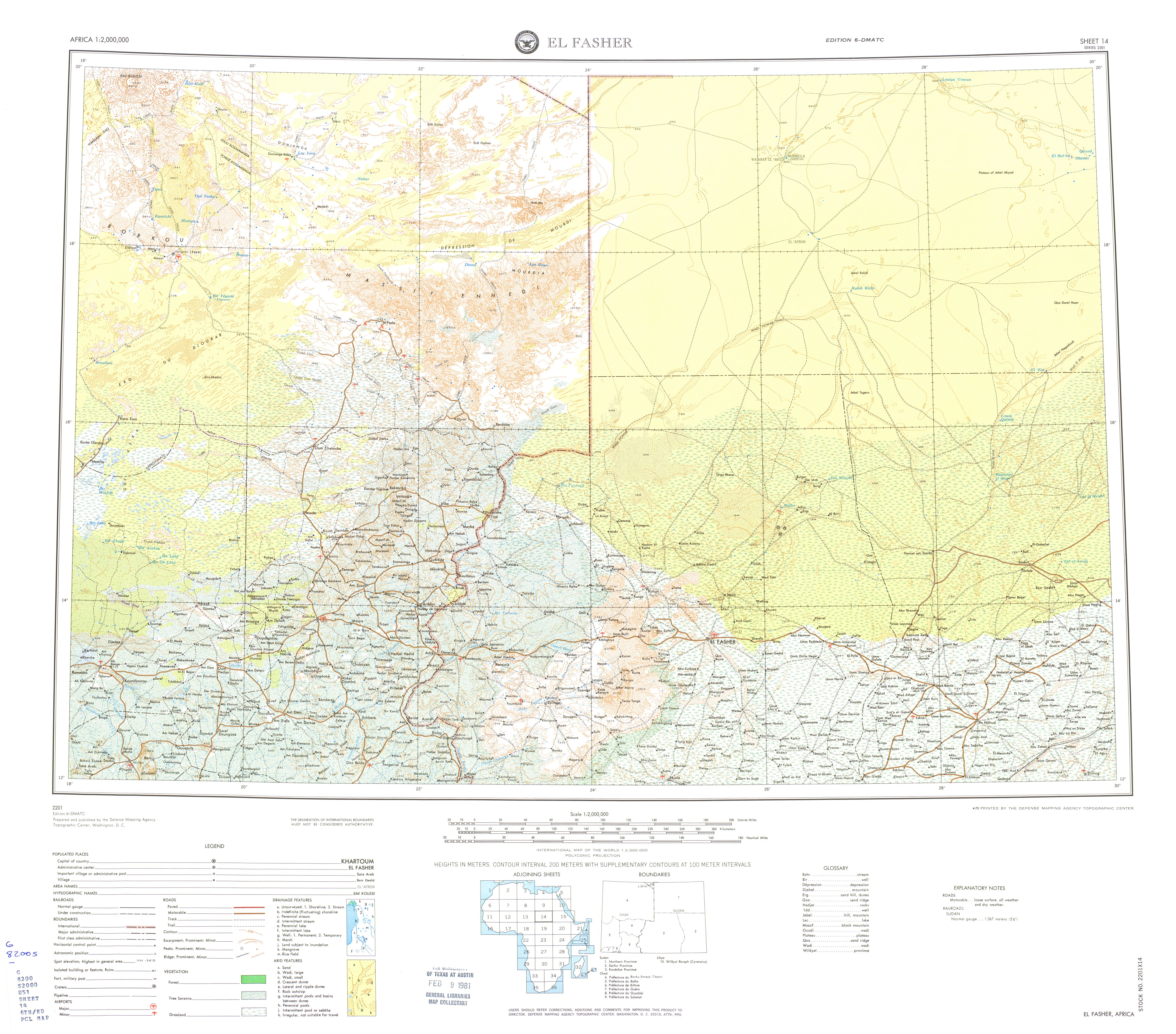 Africa AMS Topographic Maps PerryCastaeda Map Collection UT