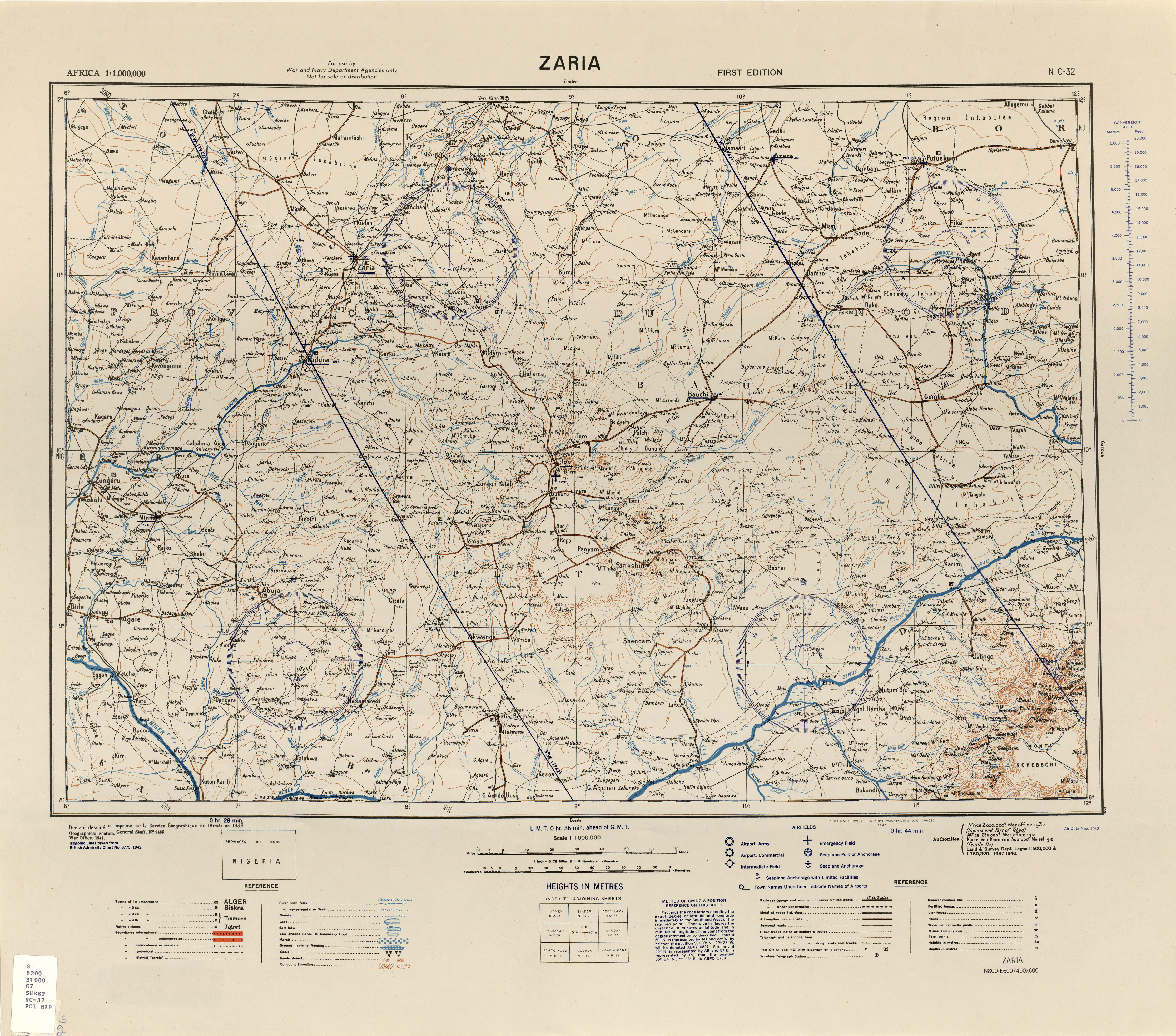 Africa AMS Topographic Maps 11000000 PerryCastaeda Map