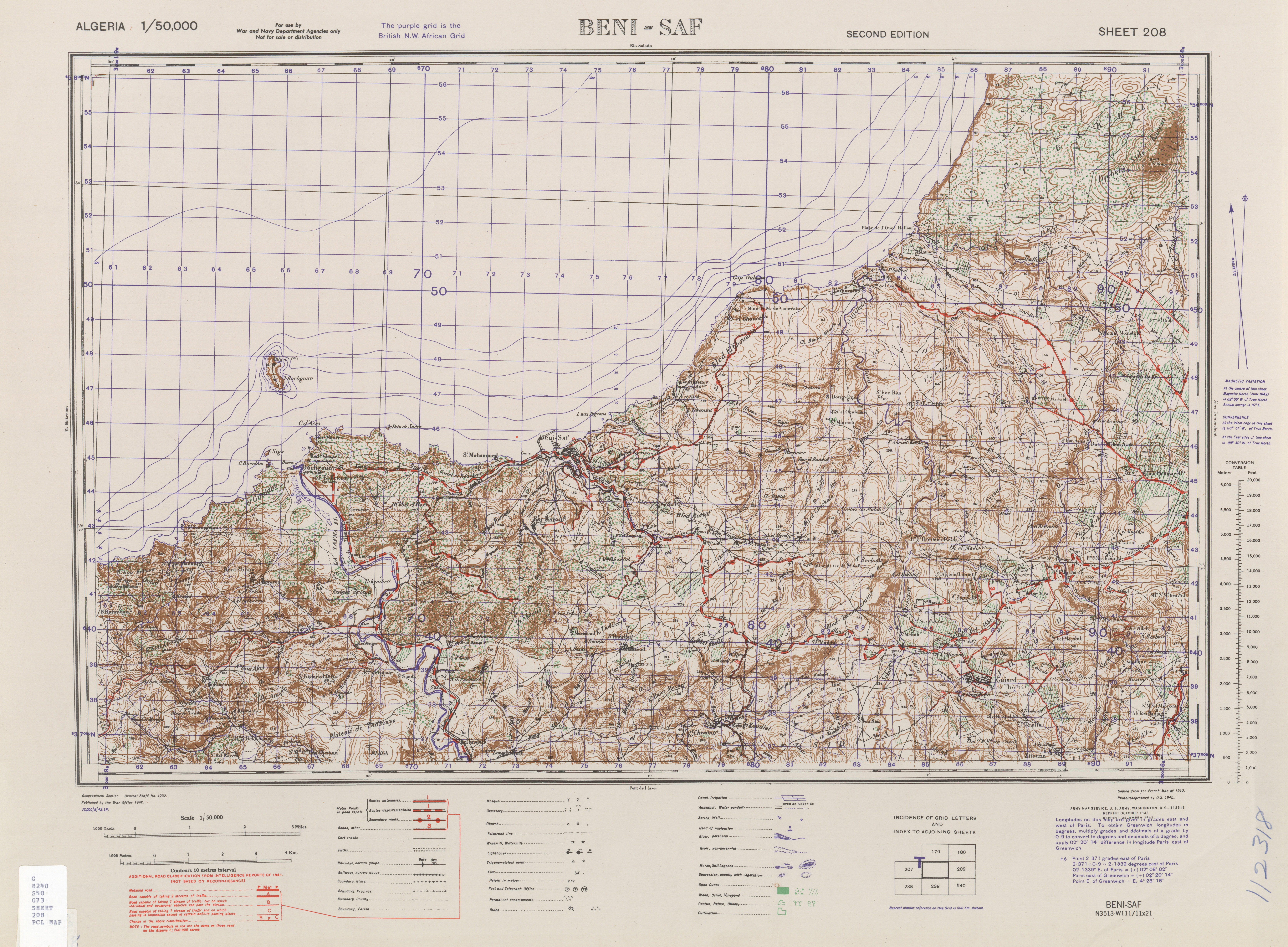 Carte Algerie Beni Saf.Algeria Ams Topographic Maps Perry Castaa Eda Map