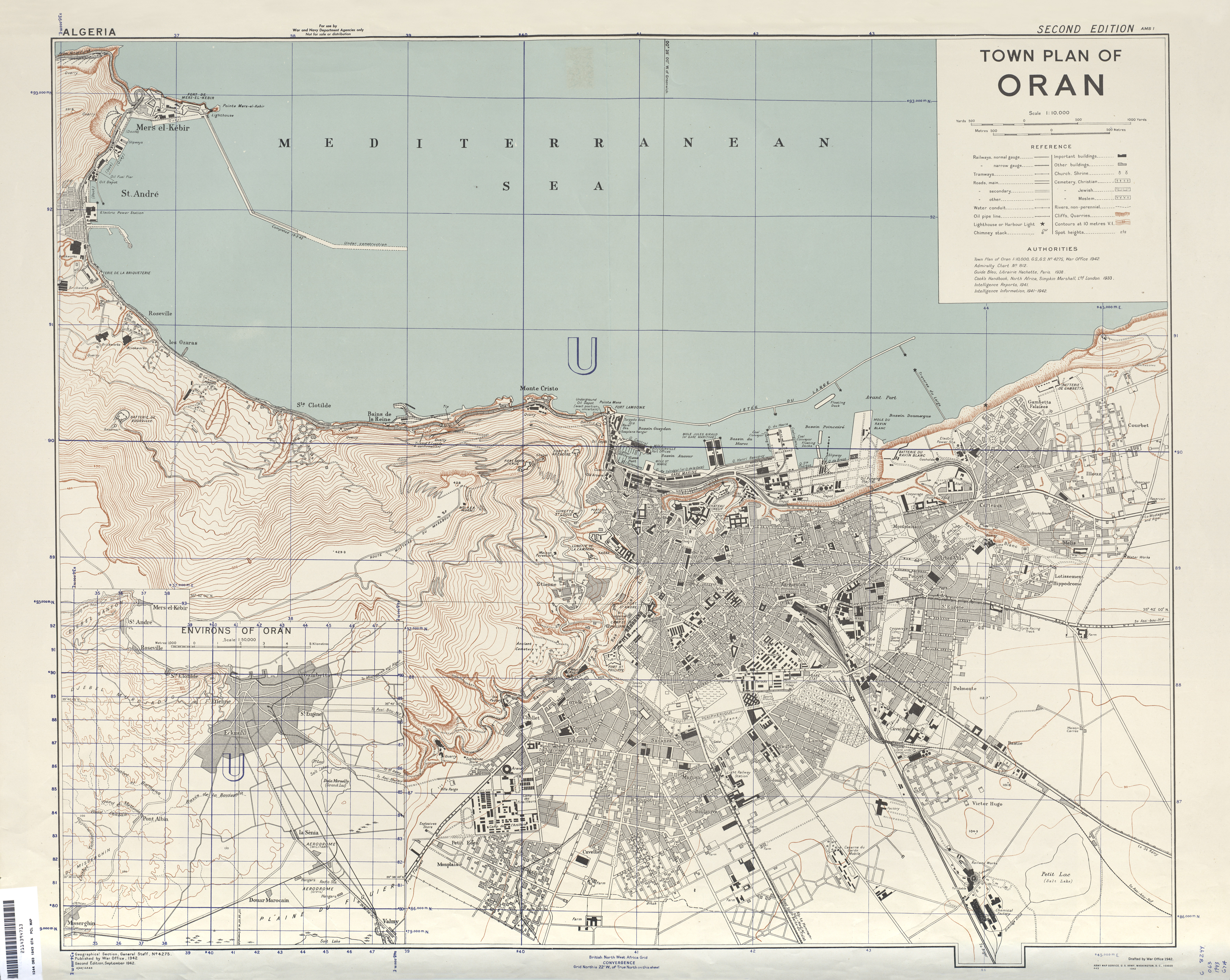 Algeria City Plans PerryCastañeda Map Collection UT Library - Cities map of algeria