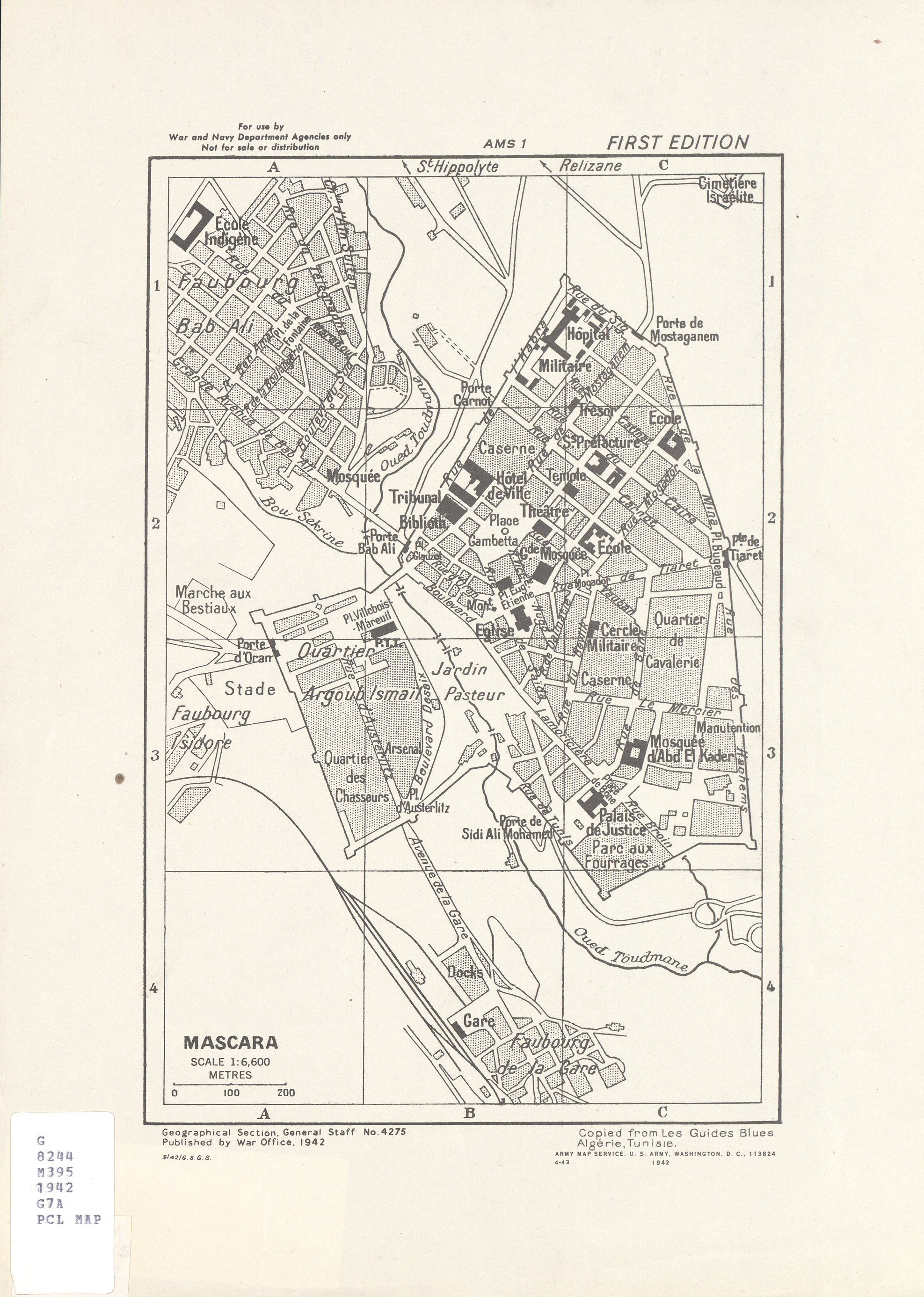 Algeria city plans perry casta eda map collection ut for Plan tlemcen