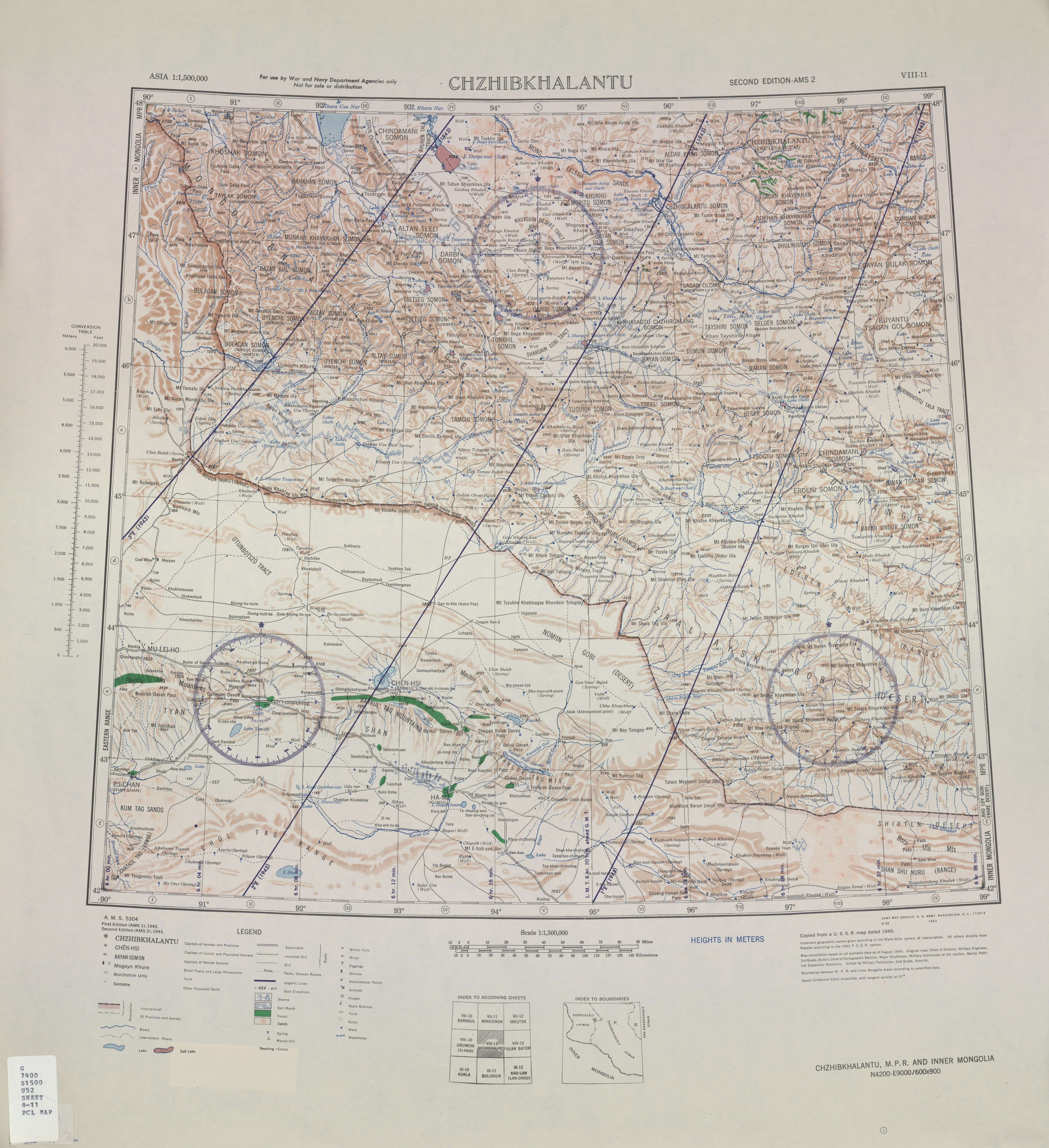 Asia AMS Topographic Maps PerryCastañeda Map Collection UT - Us government map of mongolia 1 500000