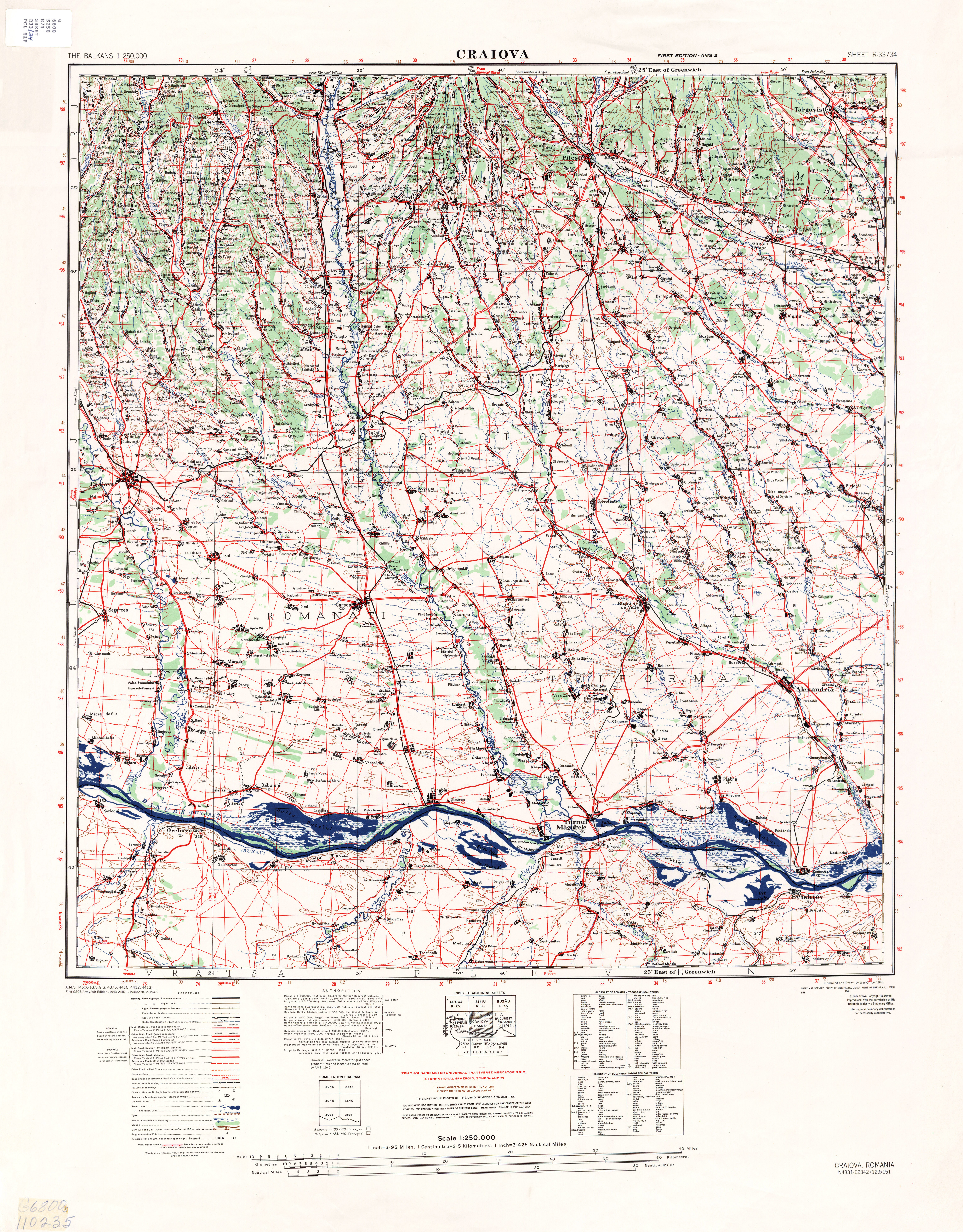 Balkans AMS Topographic Maps PerryCastaeda Map Collection UT