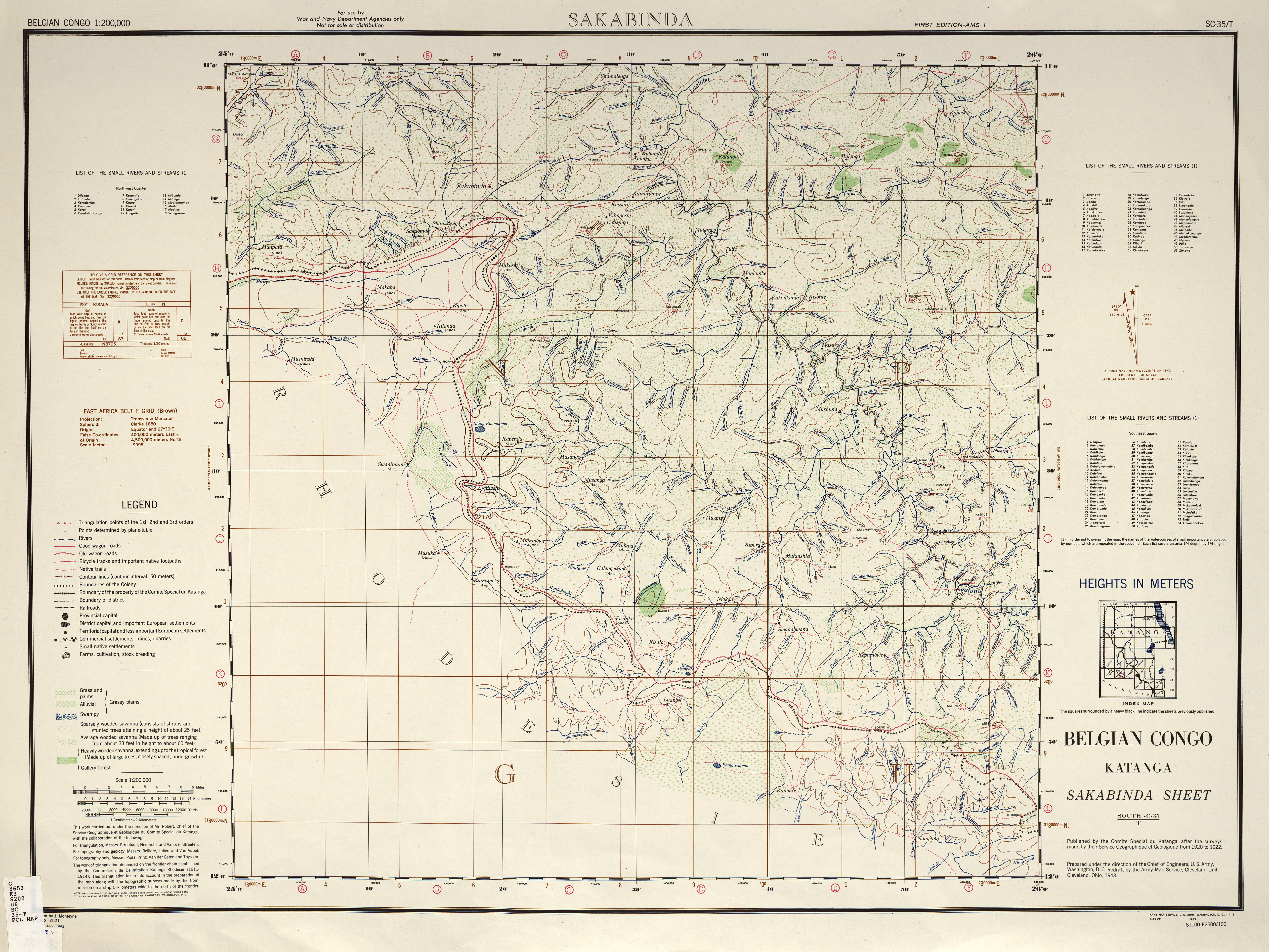 Belgian Congo AMS Topographic Maps - Perry-Castañeda Map ...