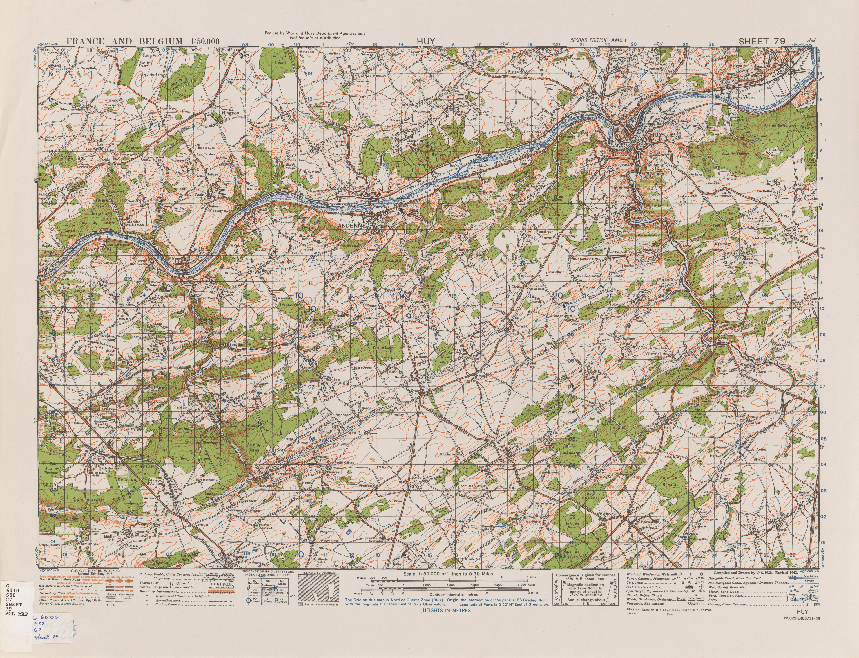 Belgium AMS Topographic Maps PerryCastaeda Map Collection UT