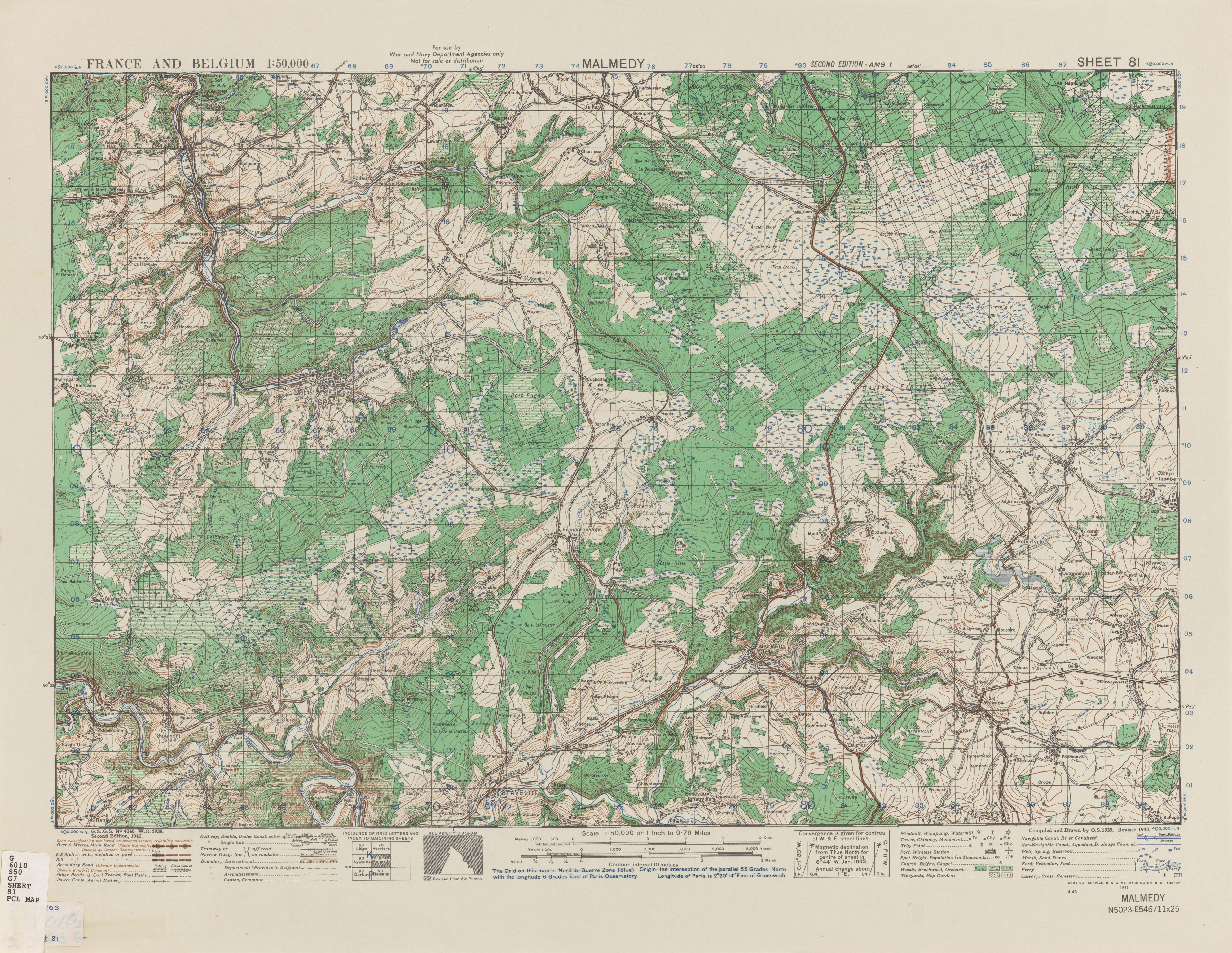 Belgium AMS Topographic Maps - Perry-Castañeda Map Collection - UT ...