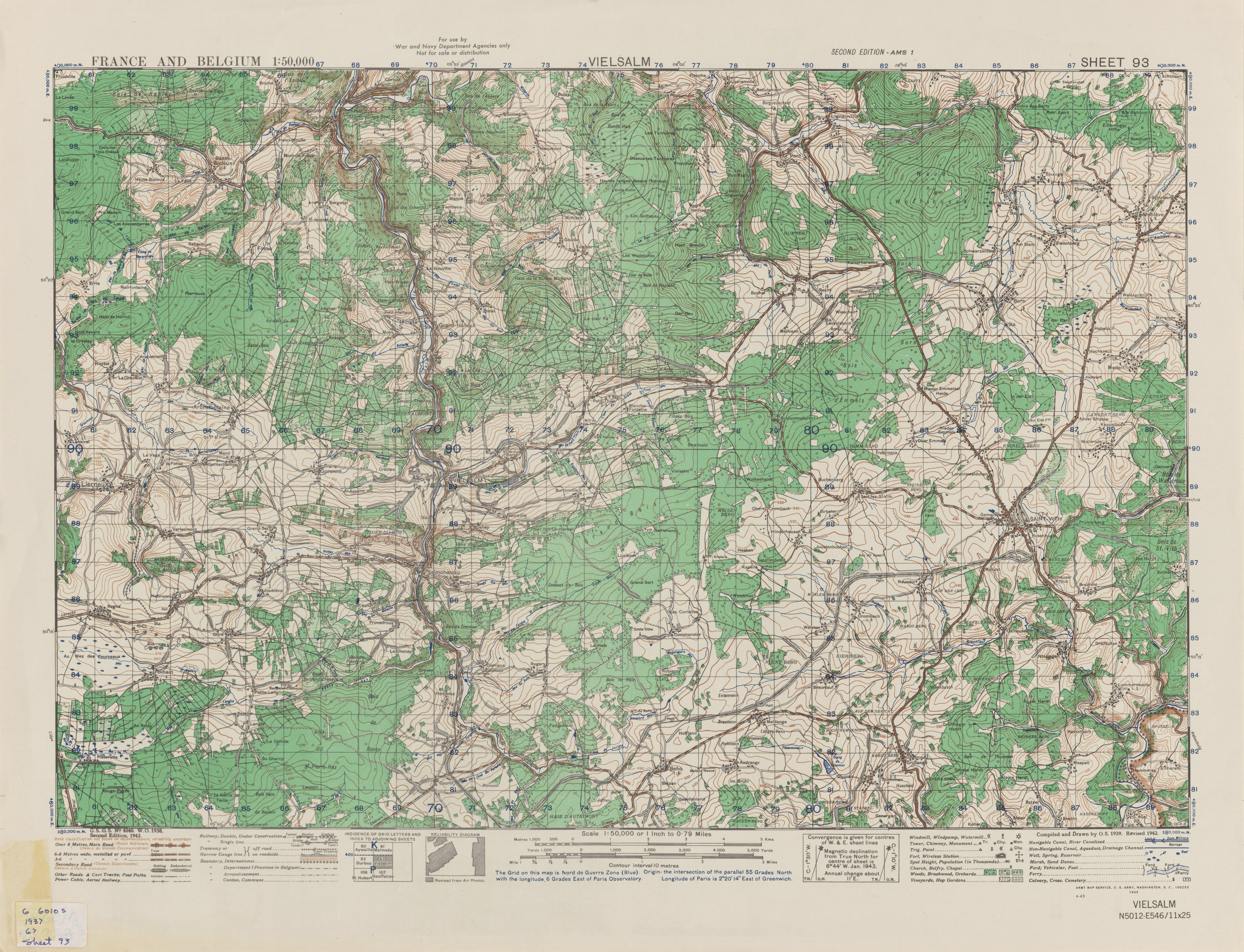 Belgium AMS Topographic Maps PerryCasta eda Map Collection UT – Topographic Map of Belgium