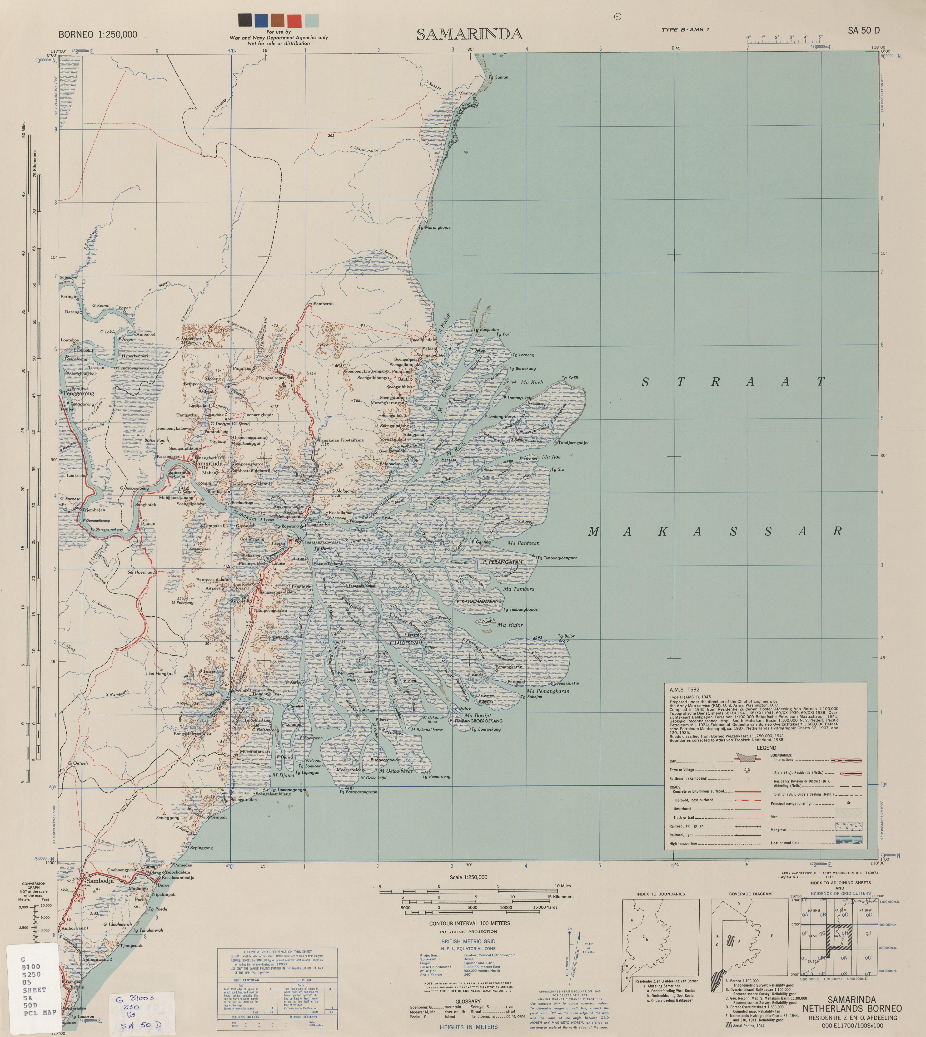 Borneo AMS Topographic Maps - Perry-Castañeda Map Collection - UT ...
