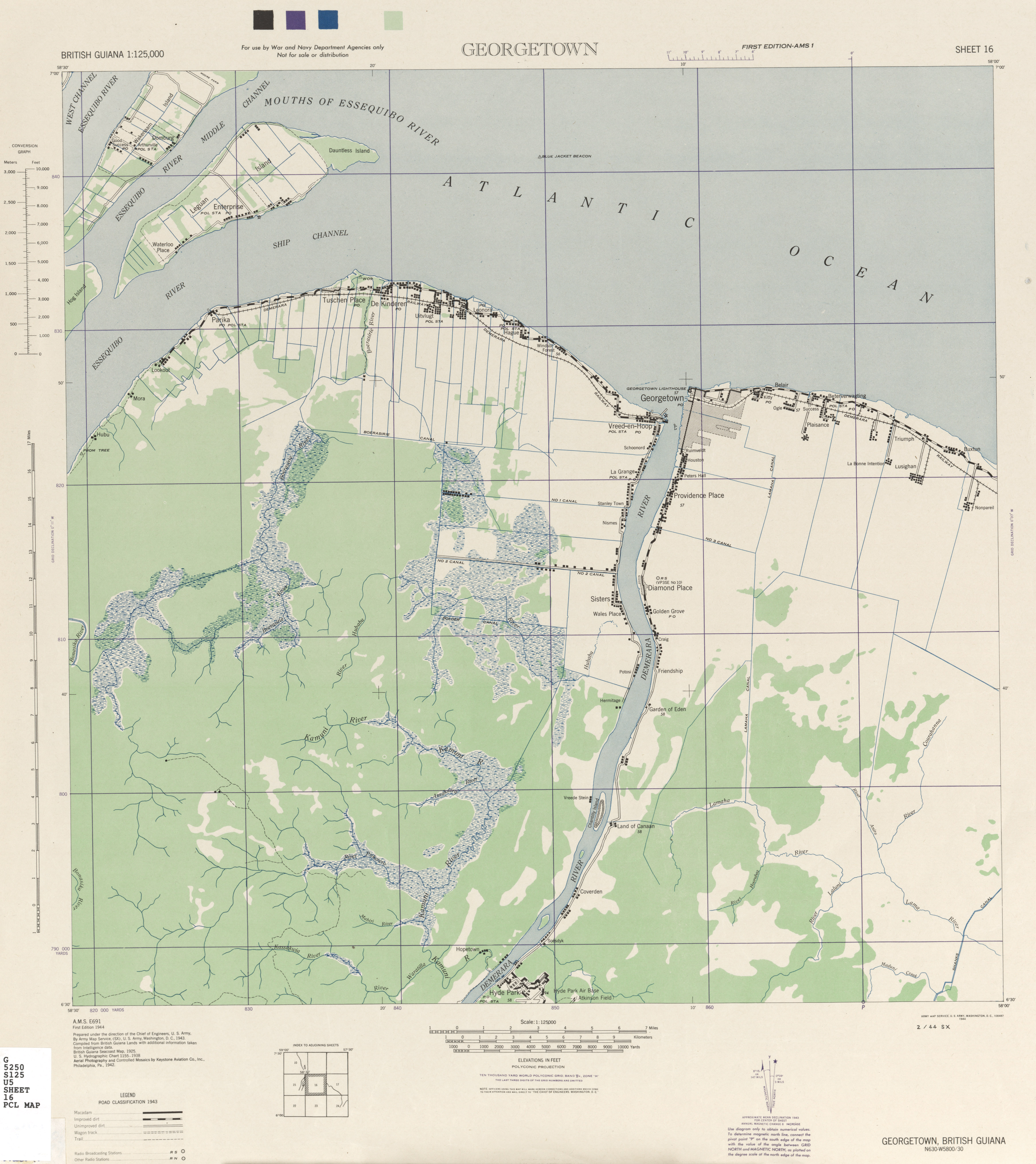 British Guiana AMS Topographic Maps PerryCastaeda Map Collection