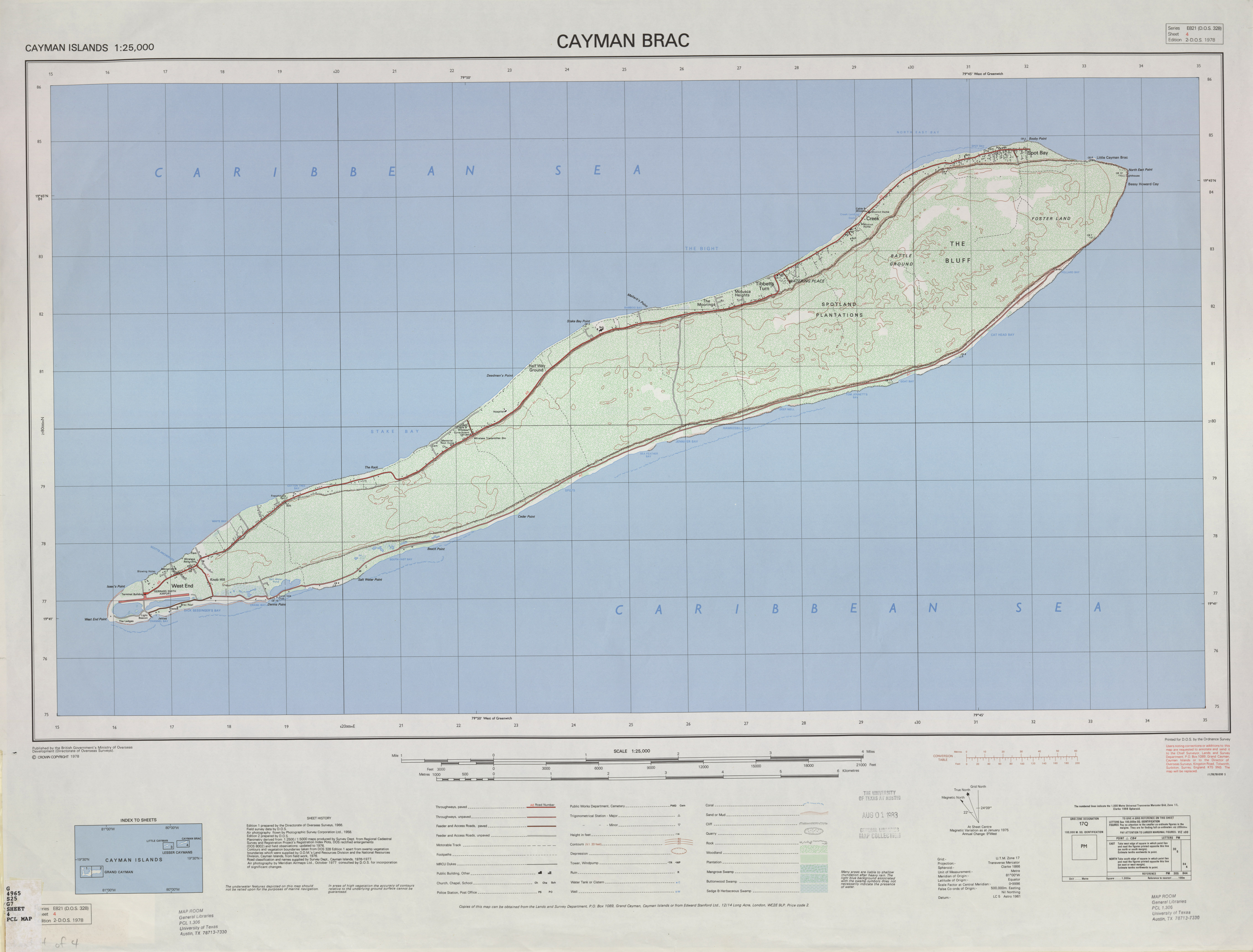Cayman Islands Ams Topographic Maps Perry Casta 241 Eda Map