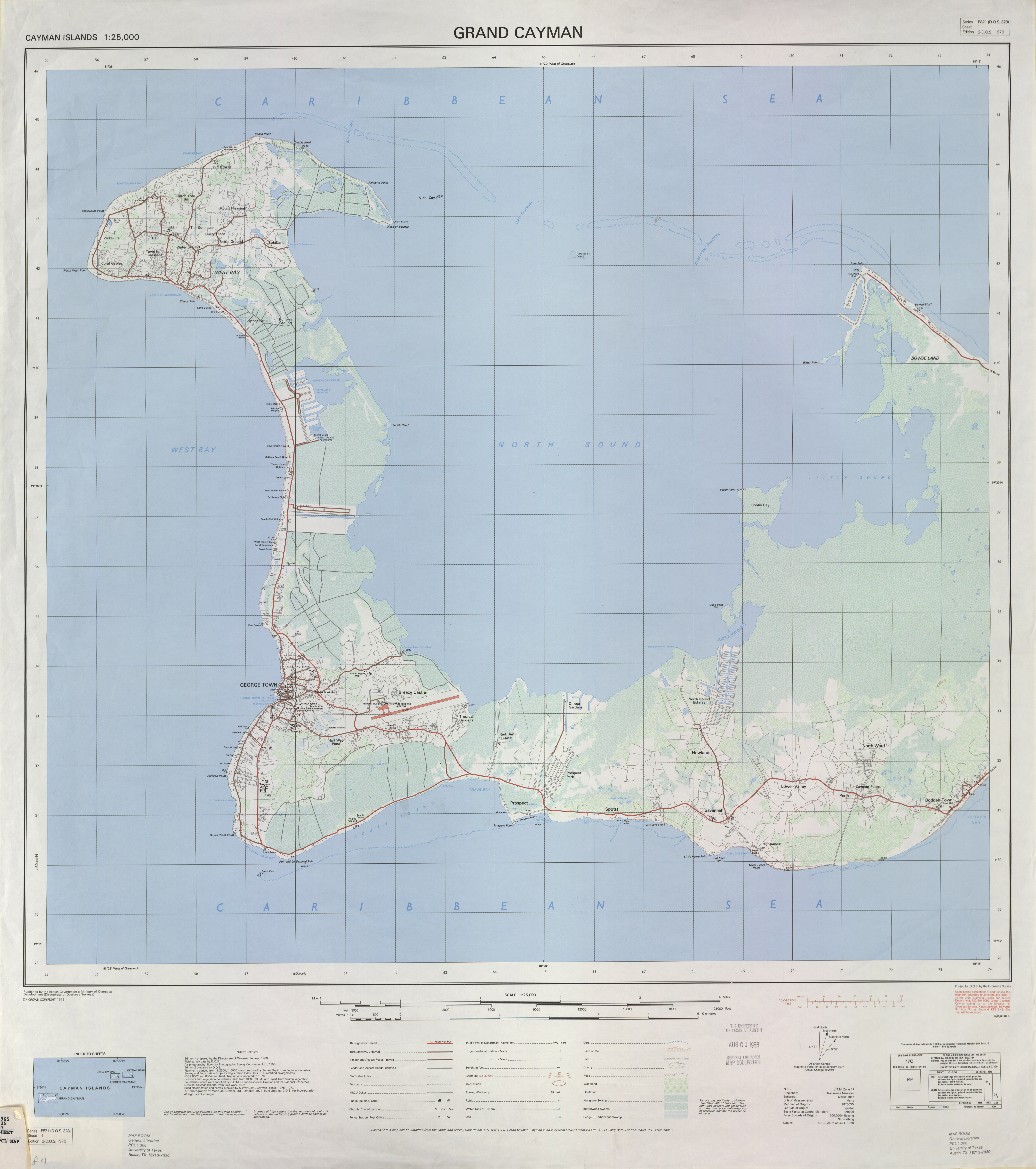 This is a photo of Adorable Printable Map of Grand Cayman