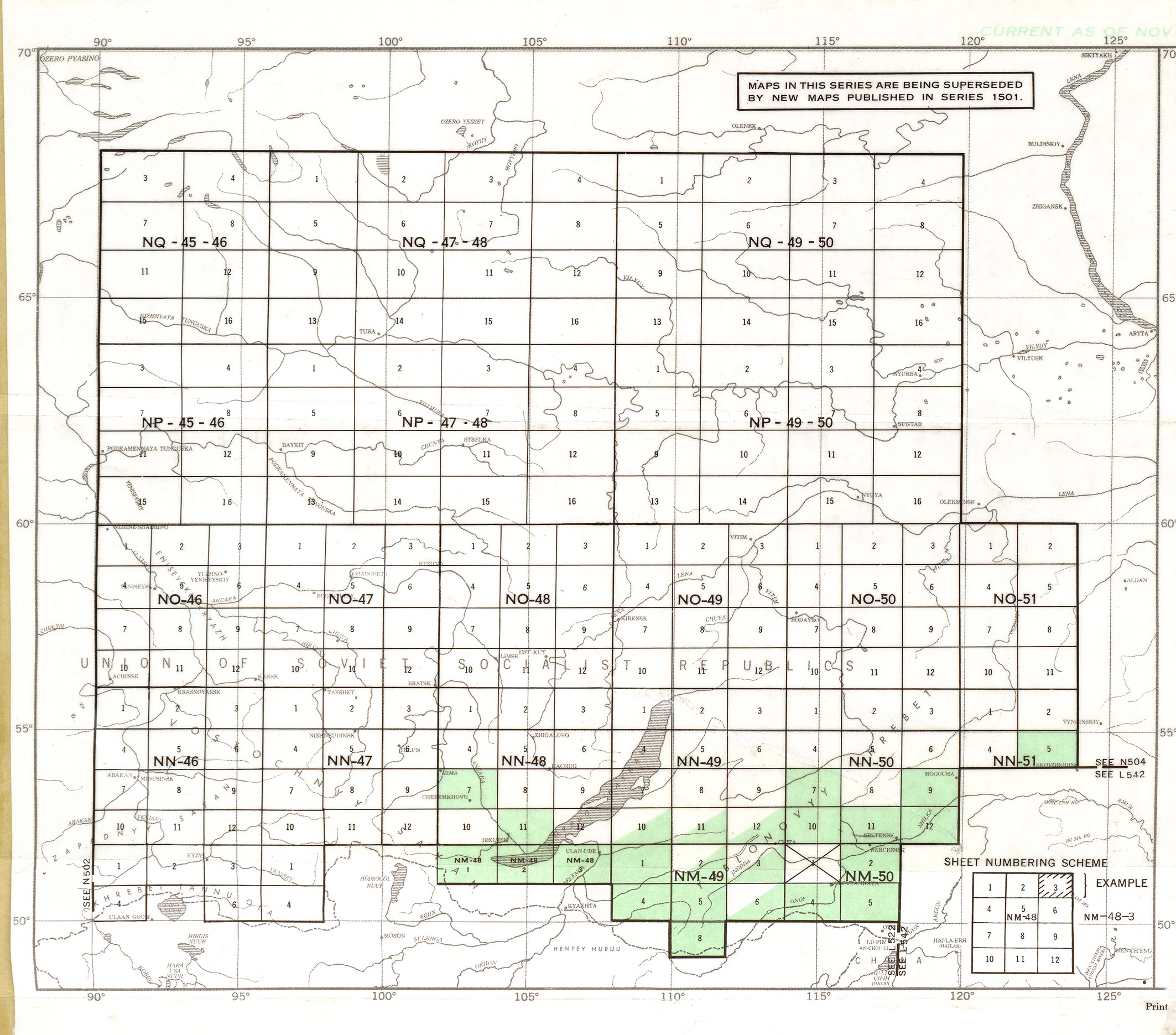 Central Siberia AMS Topographic Maps - Perry-Castañeda Map ...