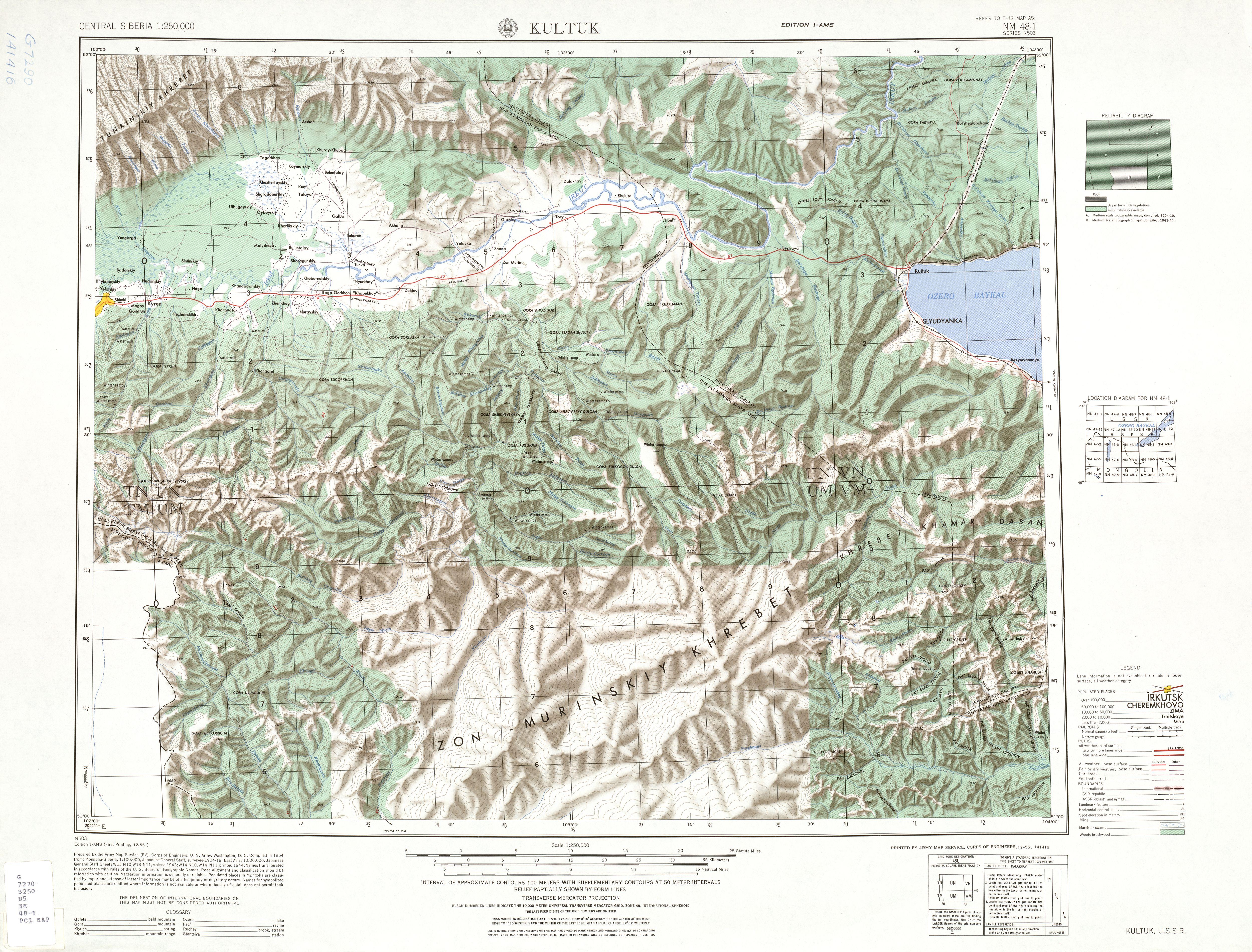 nm  kultuk . central siberia ams topographic maps  perrycastañeda map