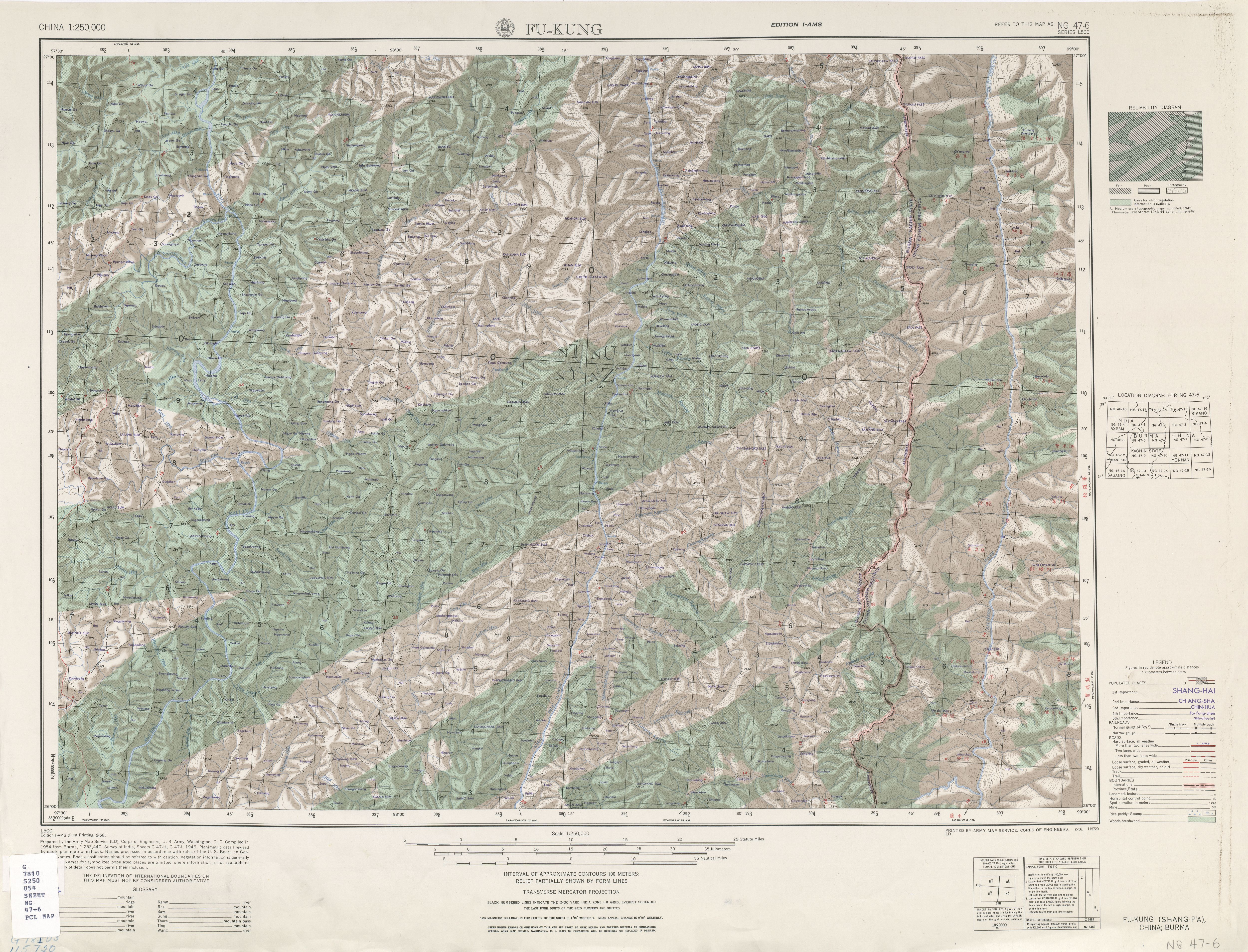 China Ams Topographic Maps Perry Castaneda Map Collection Ut