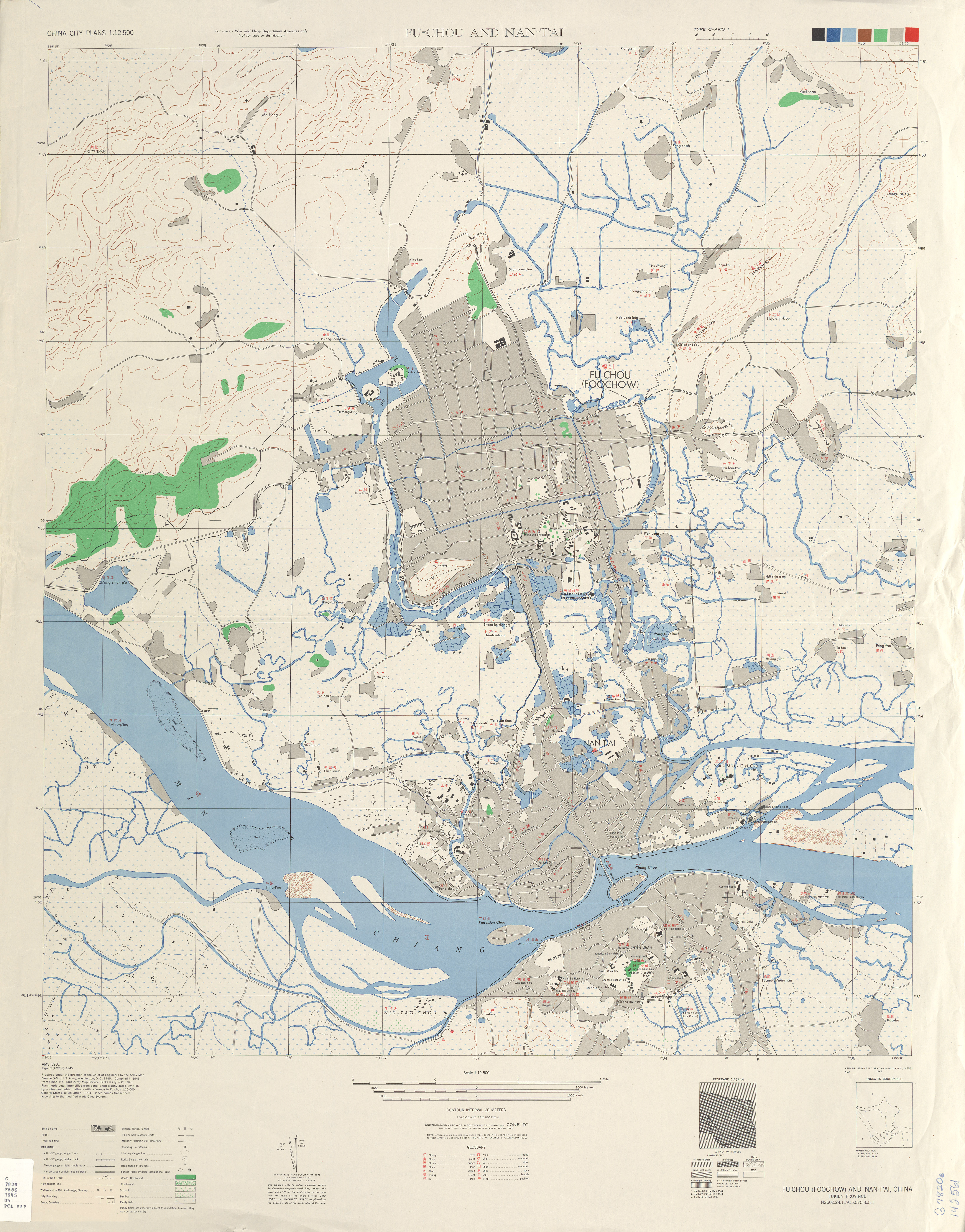 China historical maps perry castaeda map collection ut library fu chou and nan tai 1945 gumiabroncs Choice Image