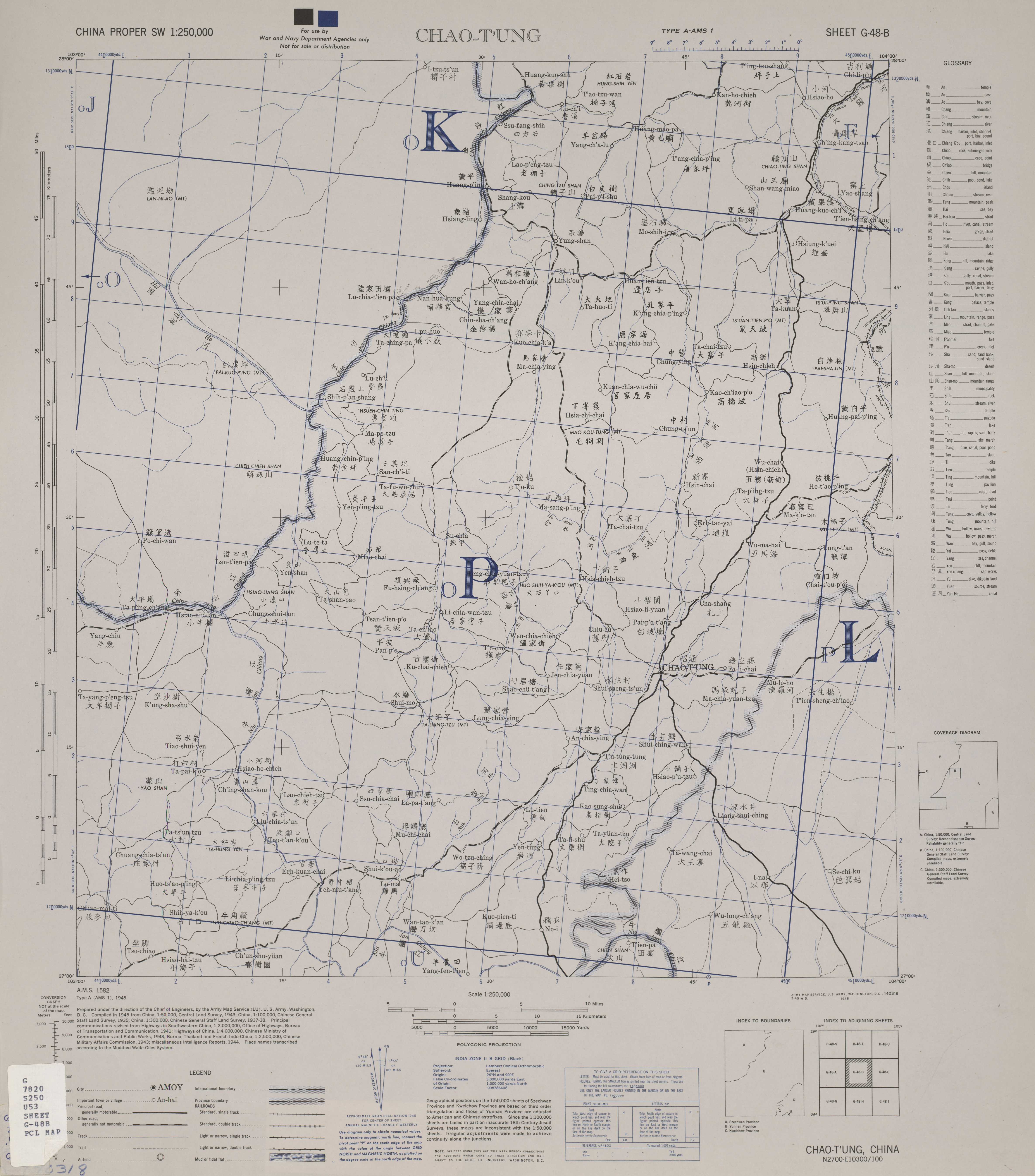 China Proper Southwest AMS Topographic Maps - Perry-Castañeda Map ...