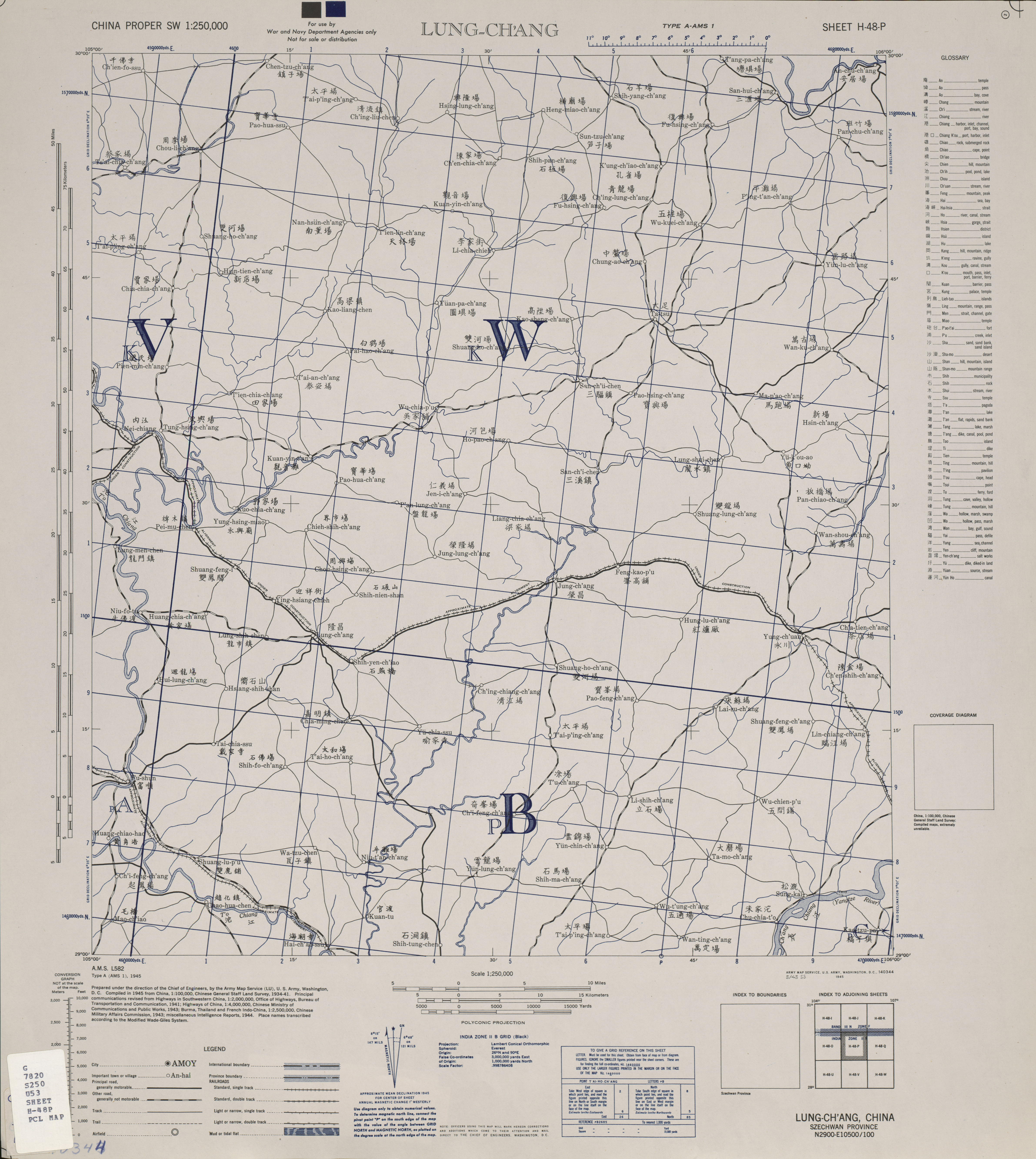 China Proper Southwest AMS Topographic Maps - Perry-Castañeda Map on