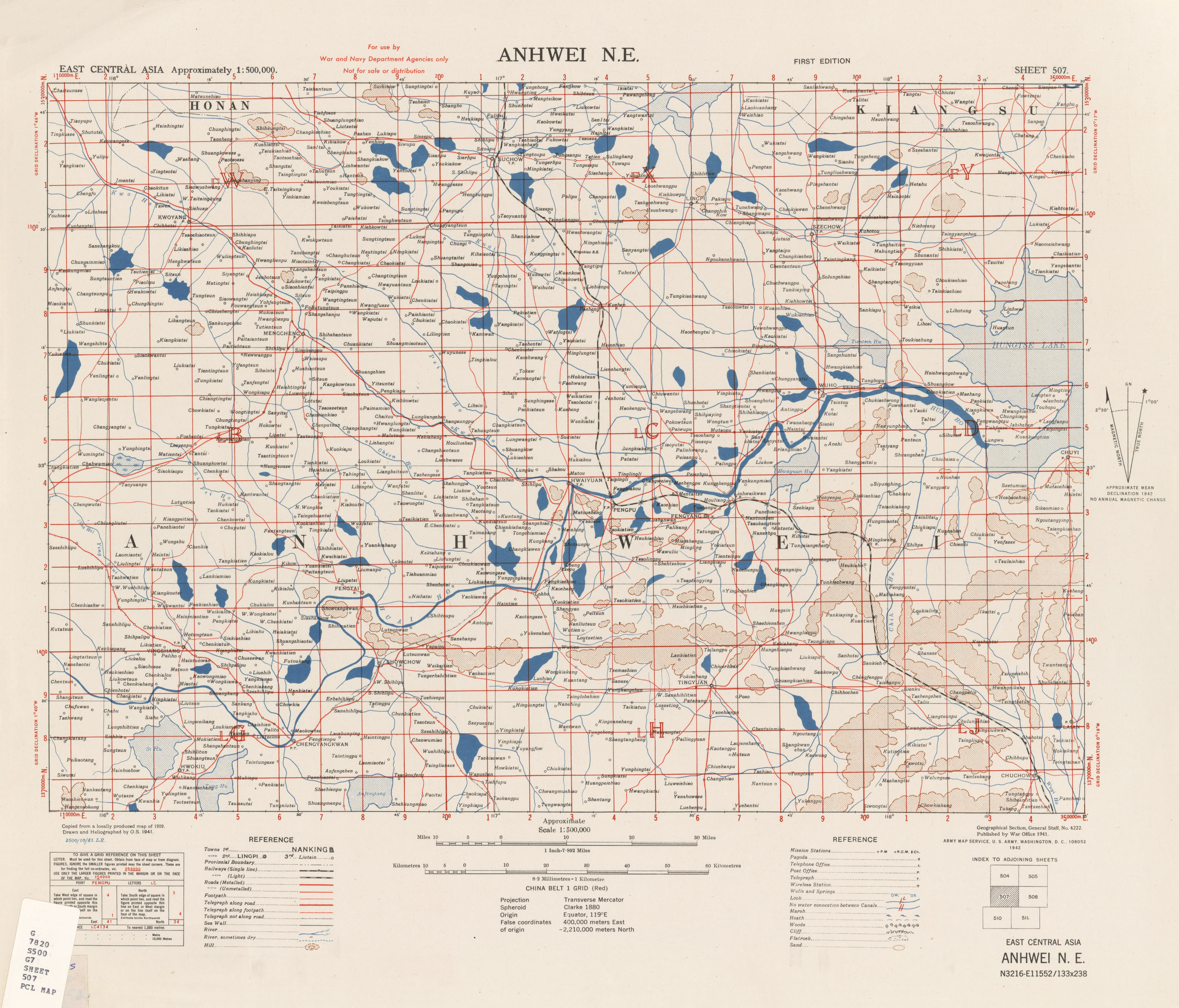 East Central Asia [China] Topographic Maps - Perry-Castañeda Map ...
