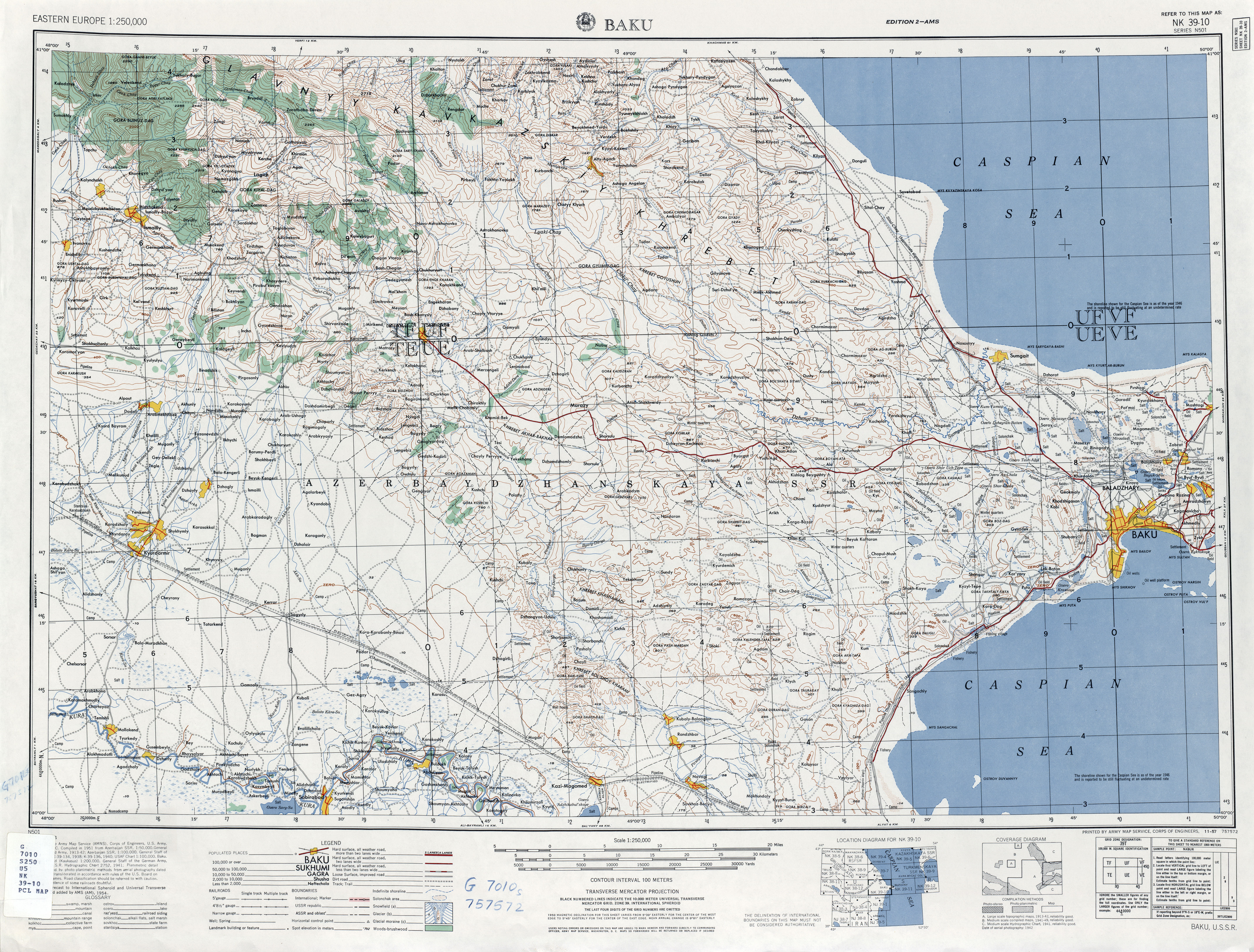 Eastern europe ams topographic maps perry castaeda map nk 39 10 baku gumiabroncs Choice Image