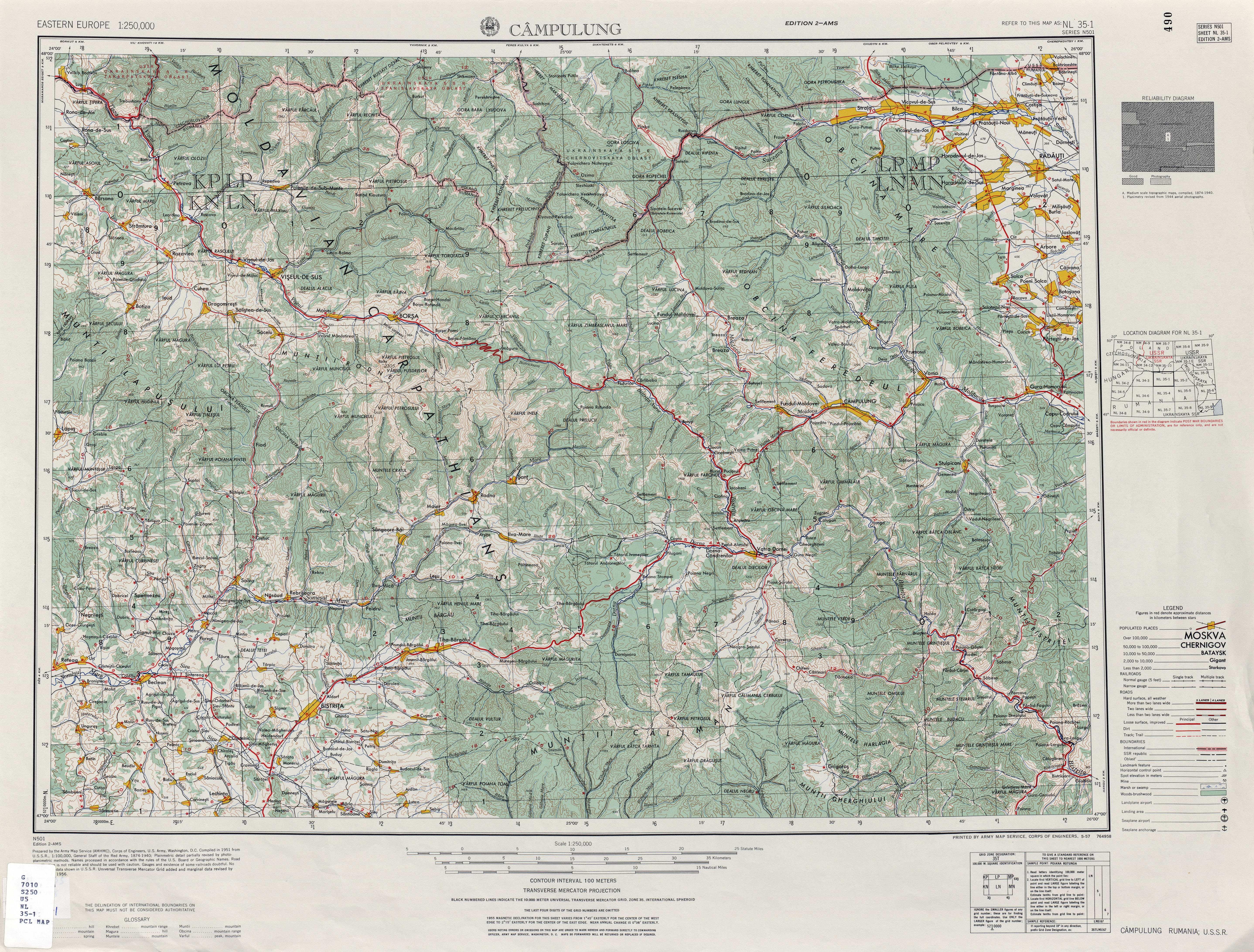 Eastern Europe AMS Topographic Maps - Perry-Castañeda Map ...