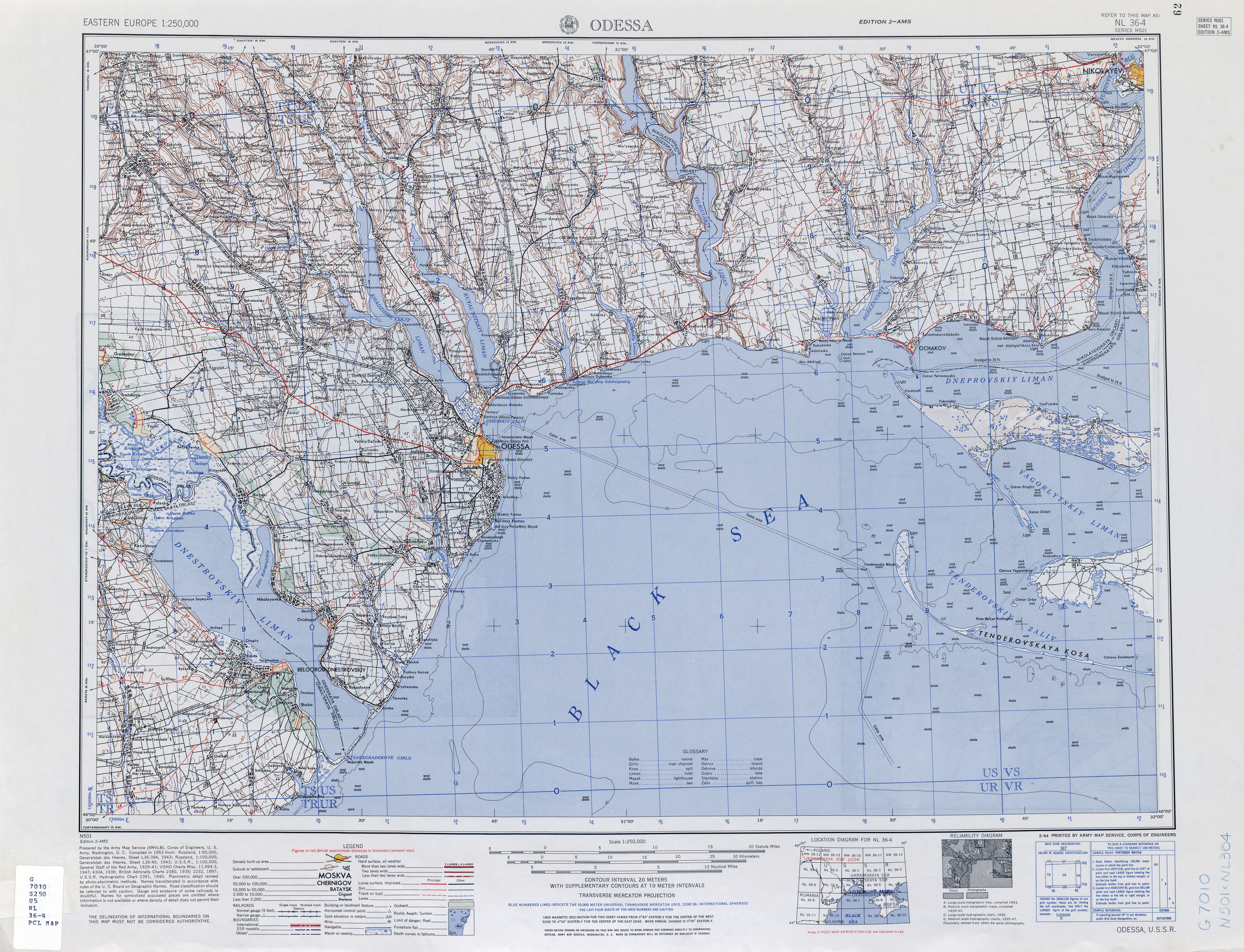 Eastern Europe AMS Topographic Maps  PerryCastaeda Map