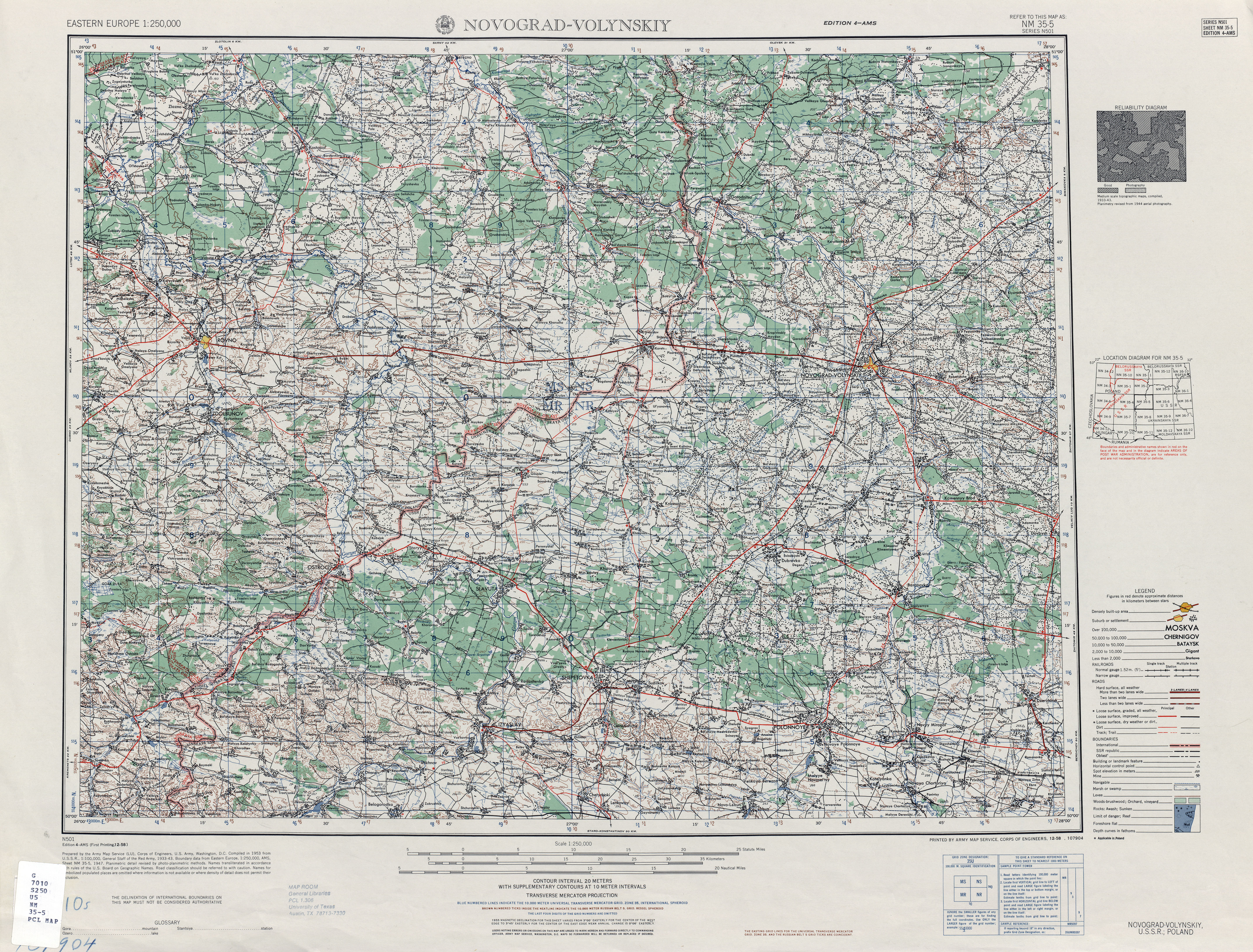 Eastern Europe Ams Topographic Maps Perry Castaneda Map Collection