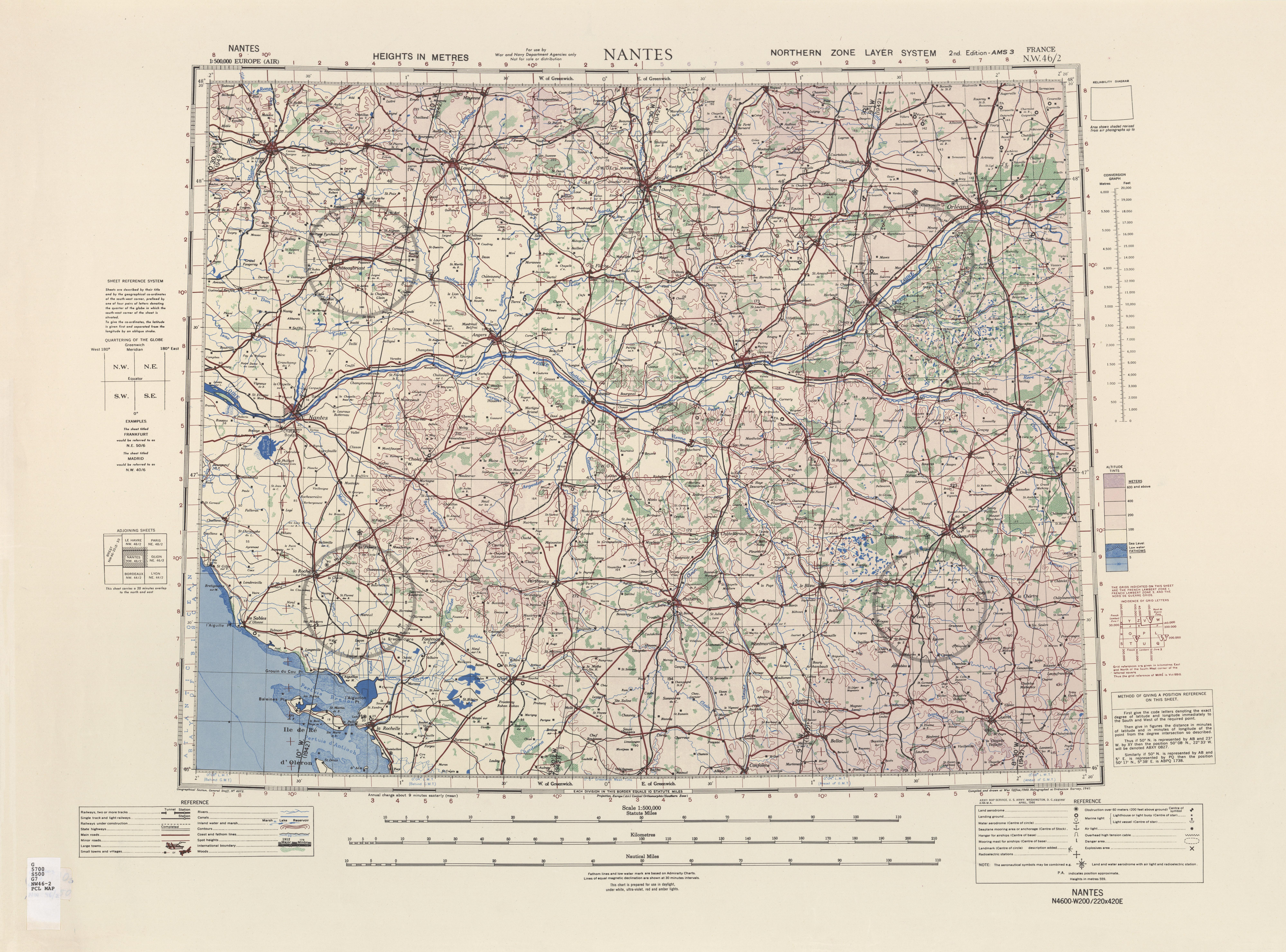 Nantes Karte.Europe Air Topographic Maps Perry Castaã Eda Map Collection Ut