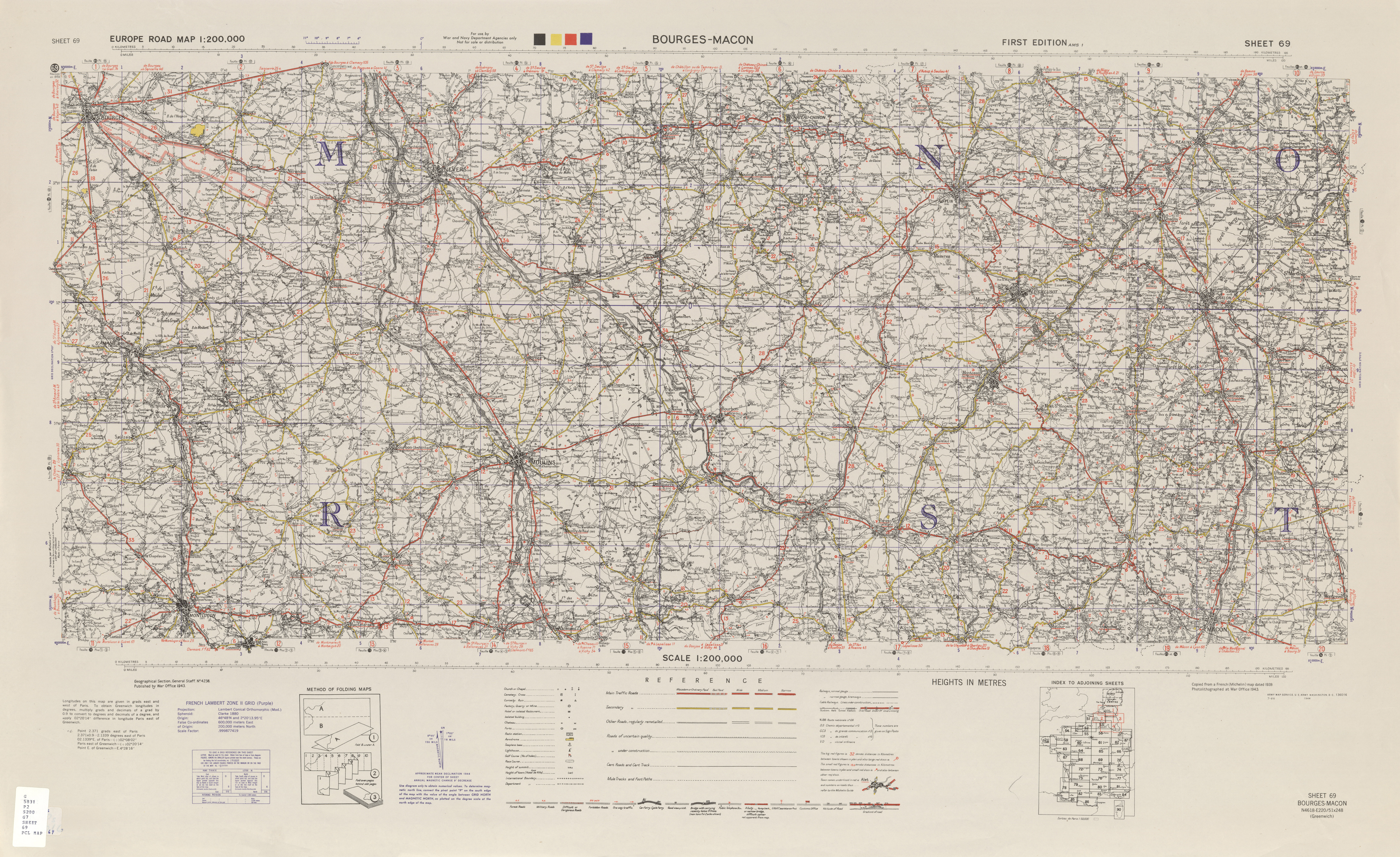 Europe Road Maps AMS Topographic Maps PerryCastaeda Map
