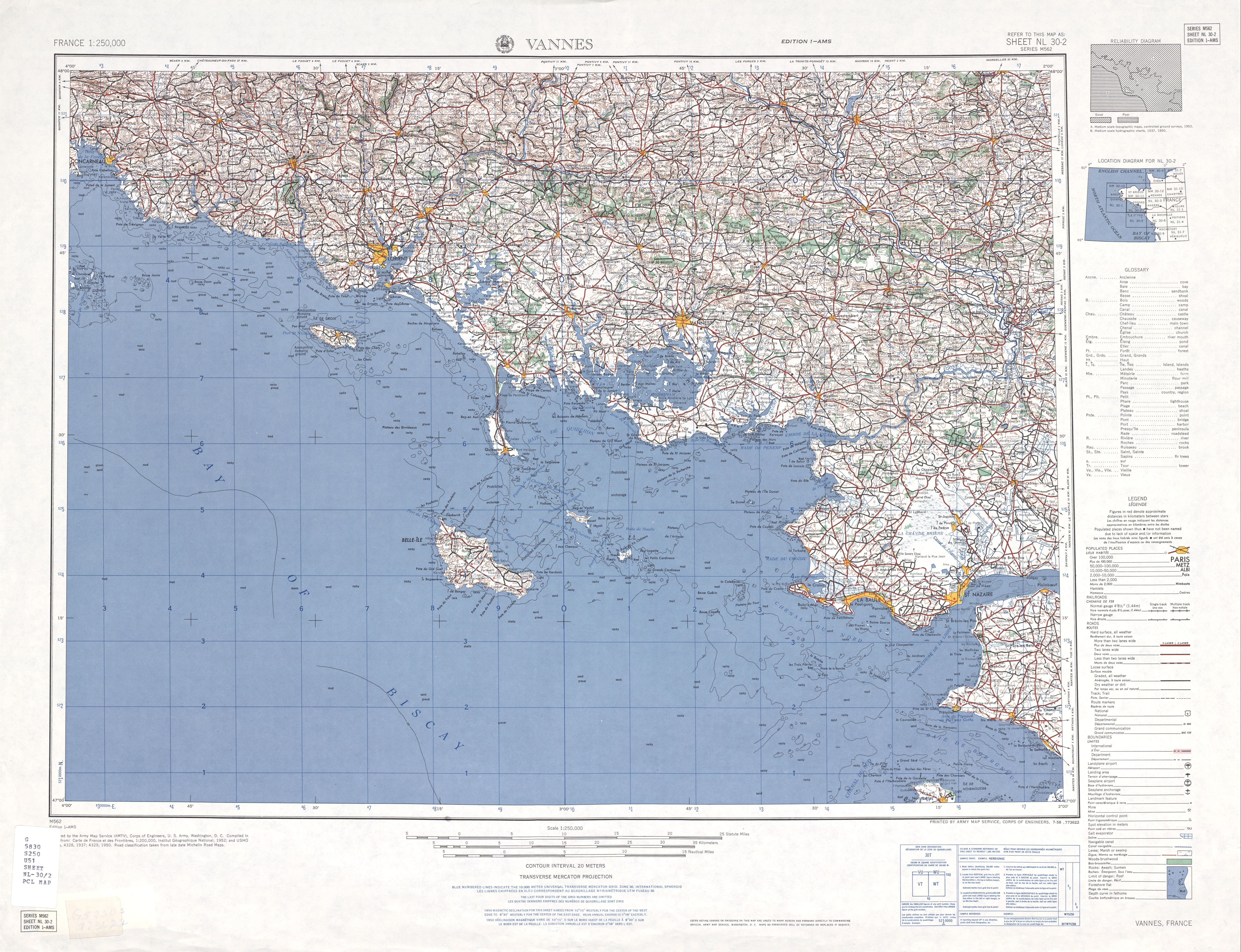 Western Europe AMS Topographic Maps - Perry-Castañeda Map Collection ...