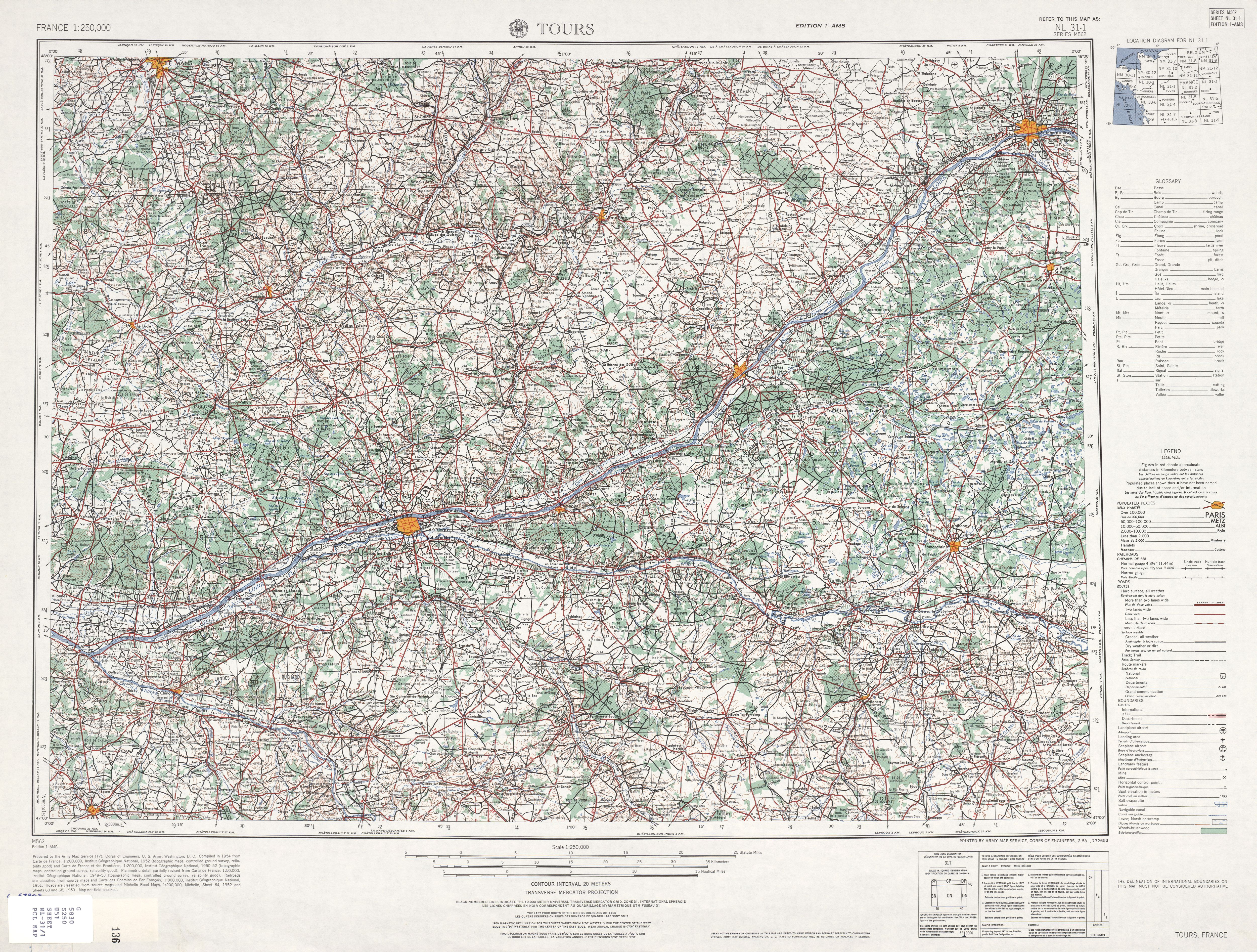 France AMS Topographic Maps PerryCastañeda Map Collection UT - Print topo maps