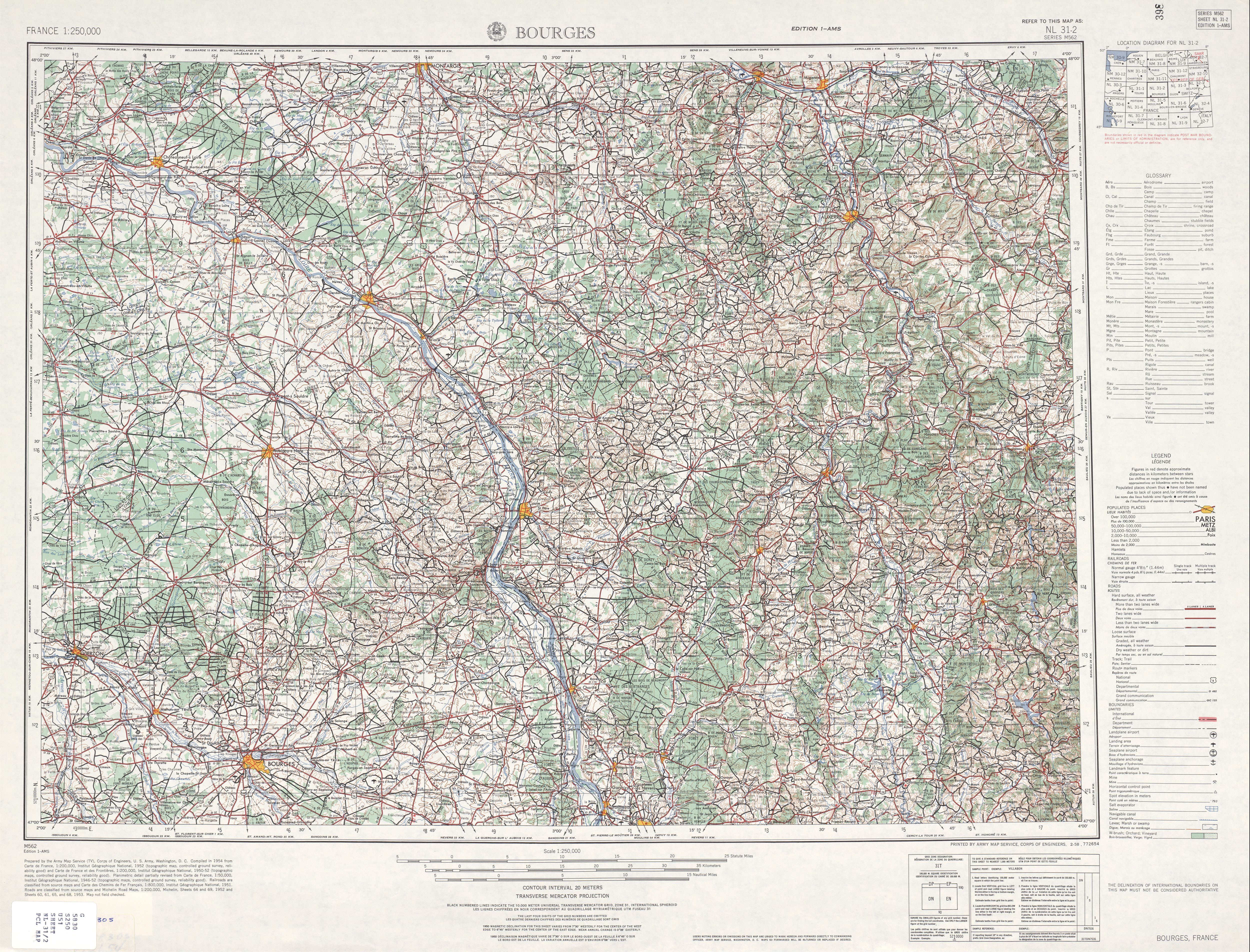 Western Europe Ams Topographic Maps Perry Castaneda Map Collection