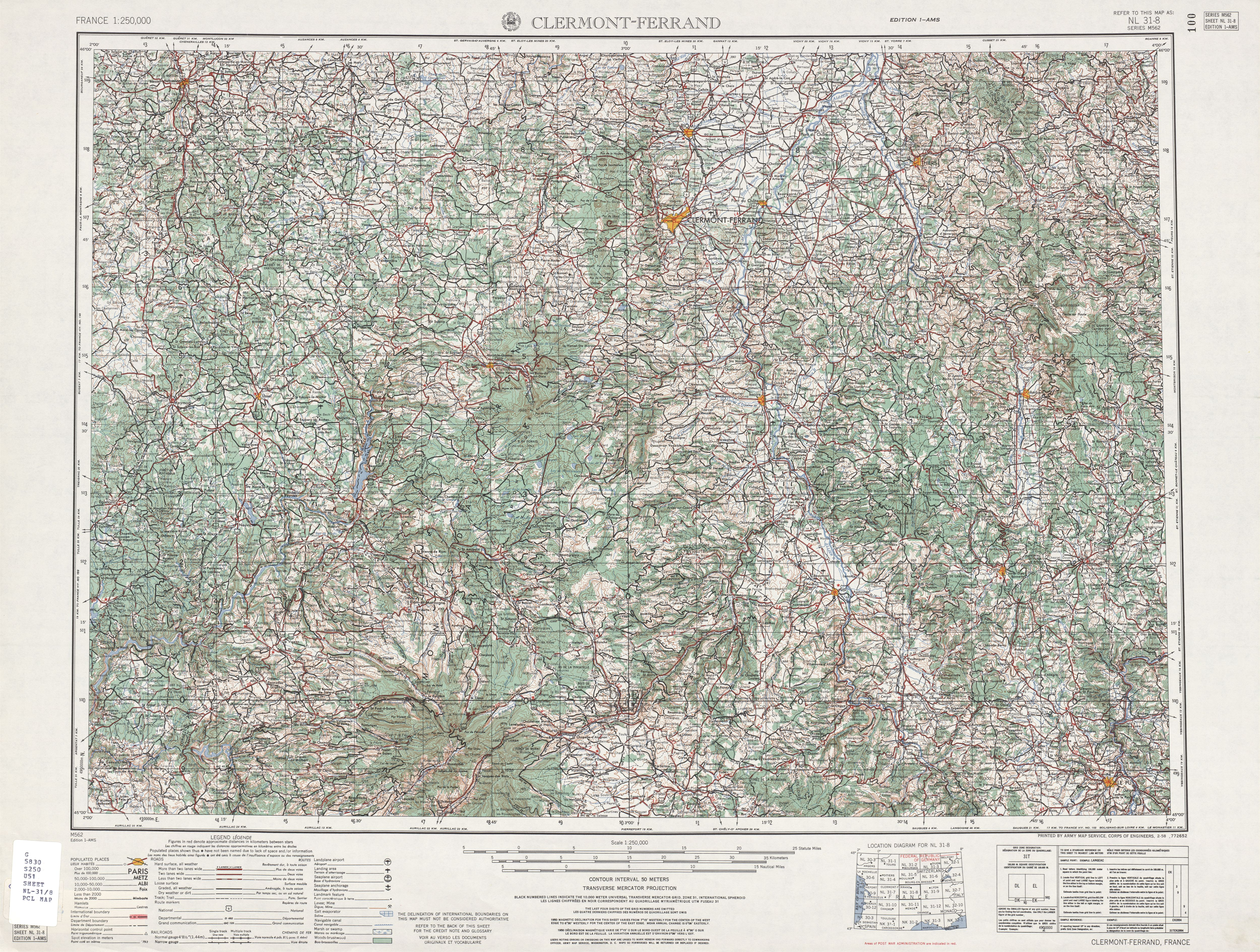 France AMS Topographic Maps  PerryCastaeda Map Collection  UT