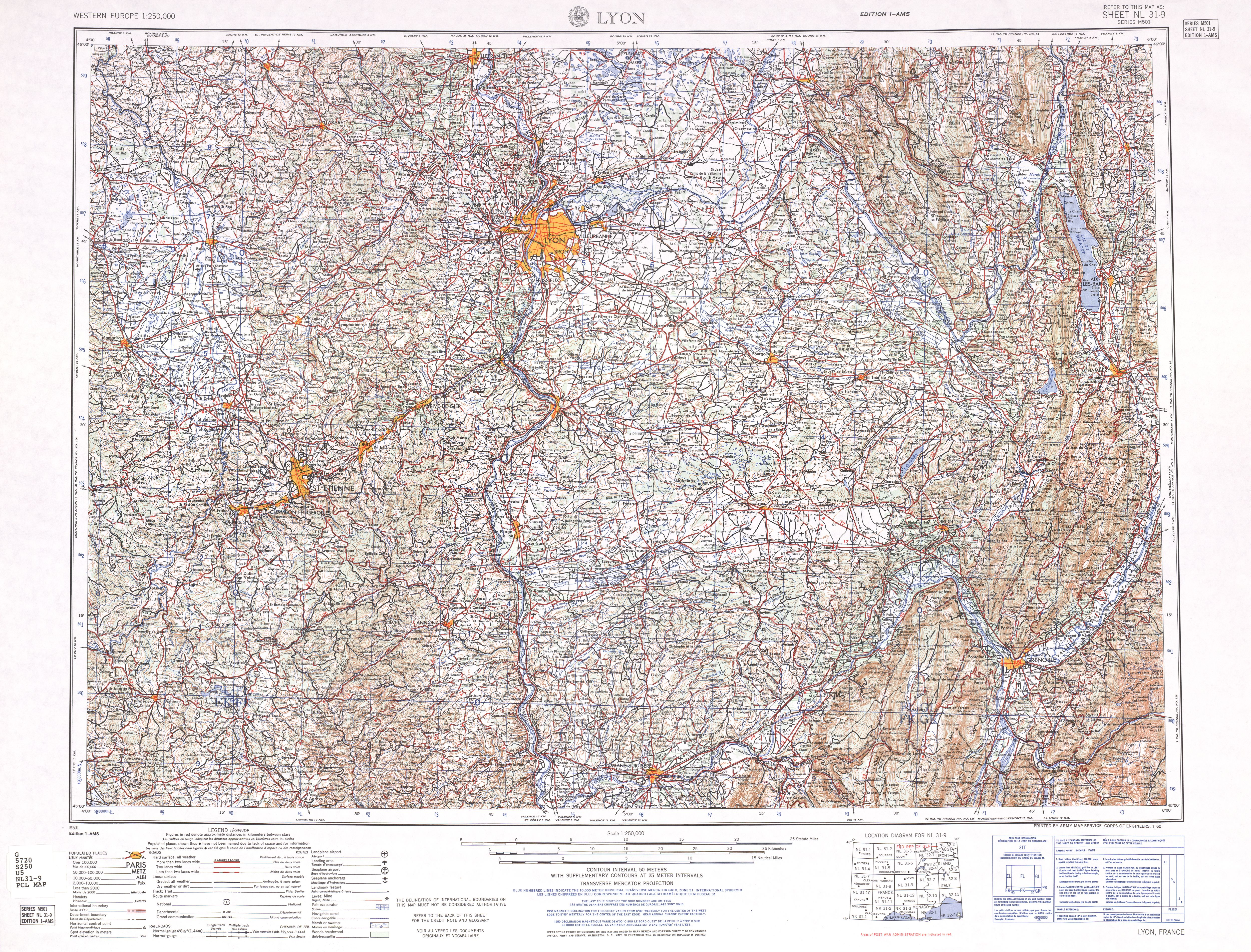Map Of Western France.France Ams Topographic Maps Perry Castaneda Map Collection Ut