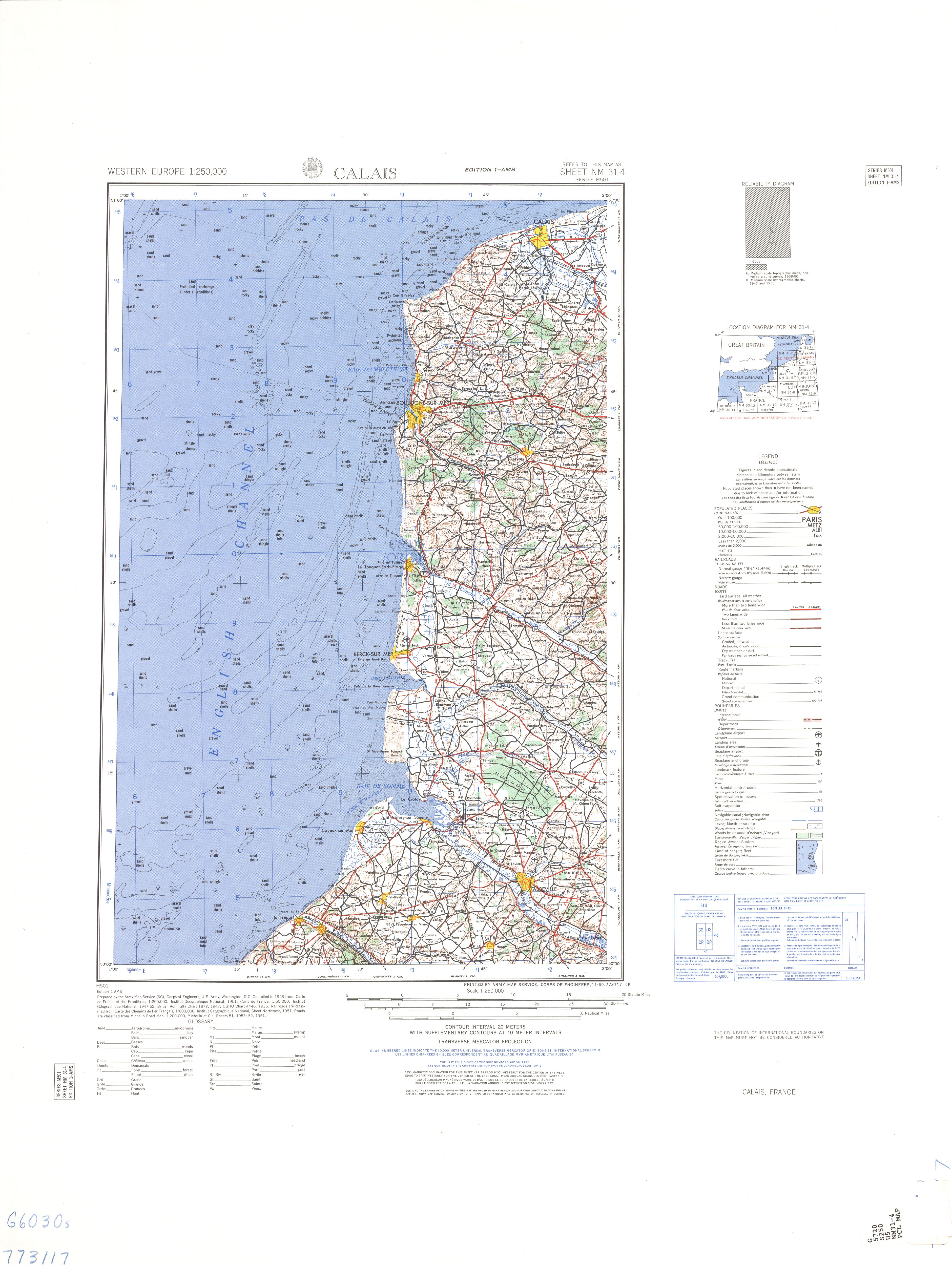 Calais Europe Map.France Ams Topographic Maps Perry Castaneda Map Collection Ut