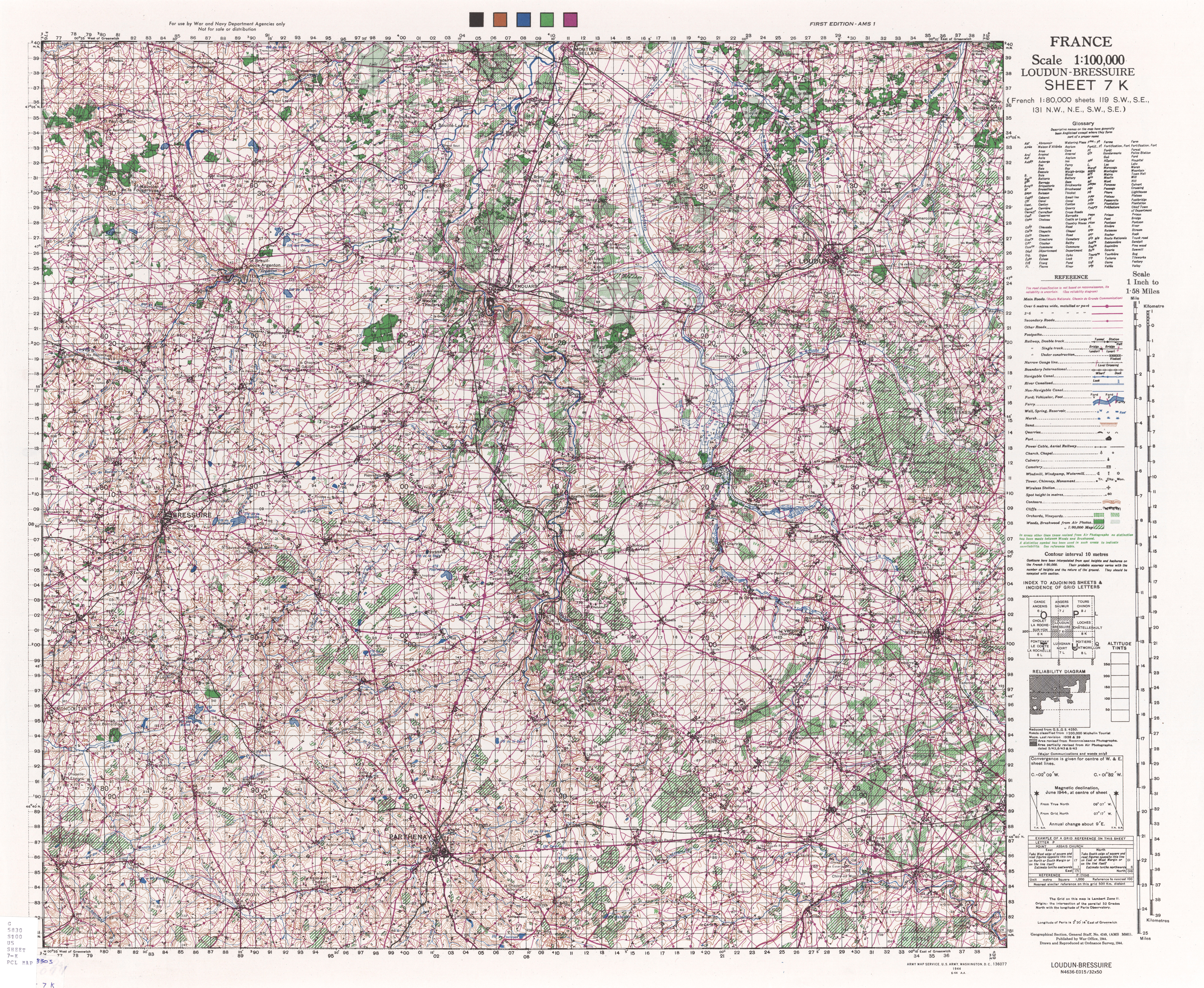 France AMS Topographic Maps - Perry-Castañeda Map ...