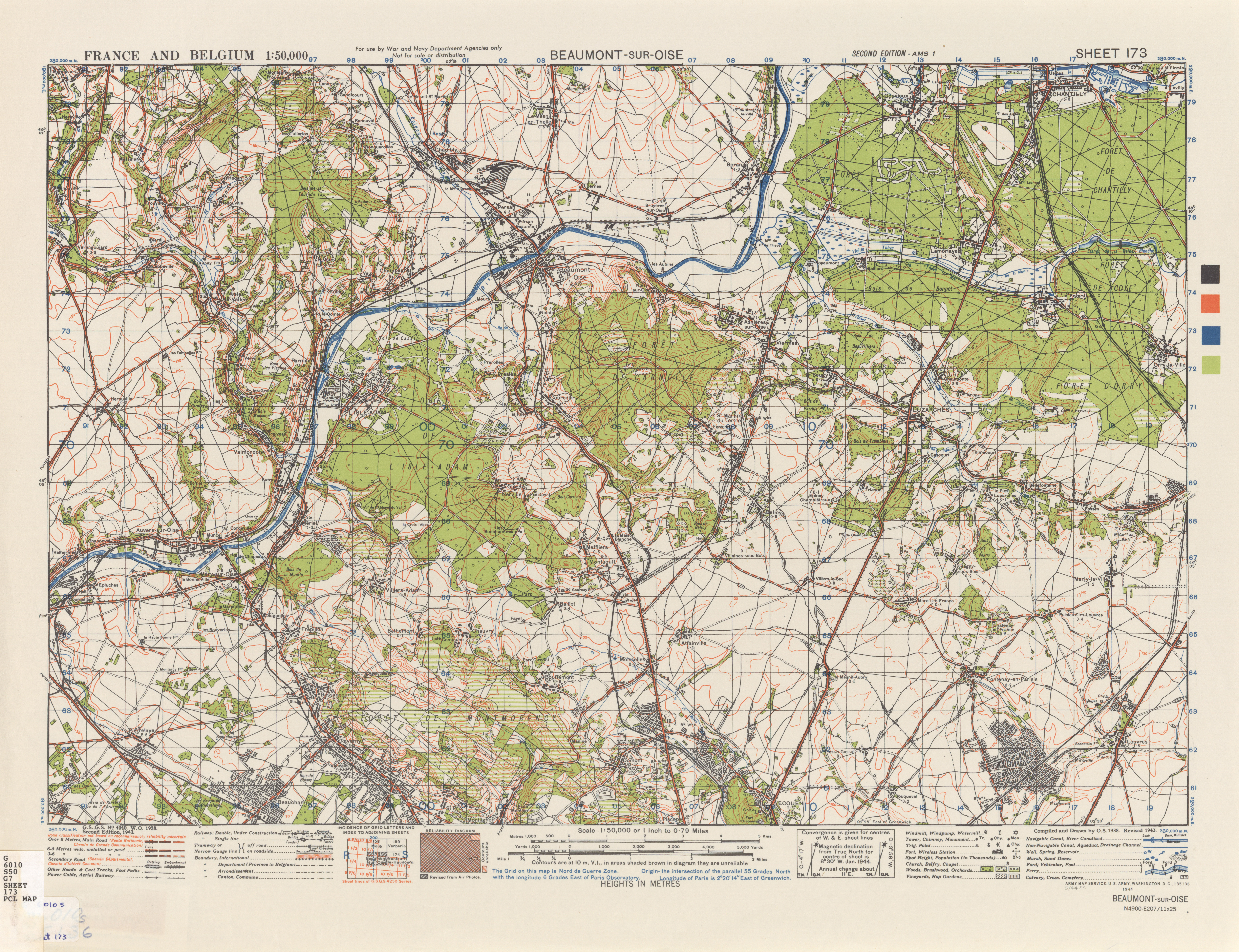 France and Belgium AMS Topographic Maps PerryCasta eda Map – Topographic Map of Belgium