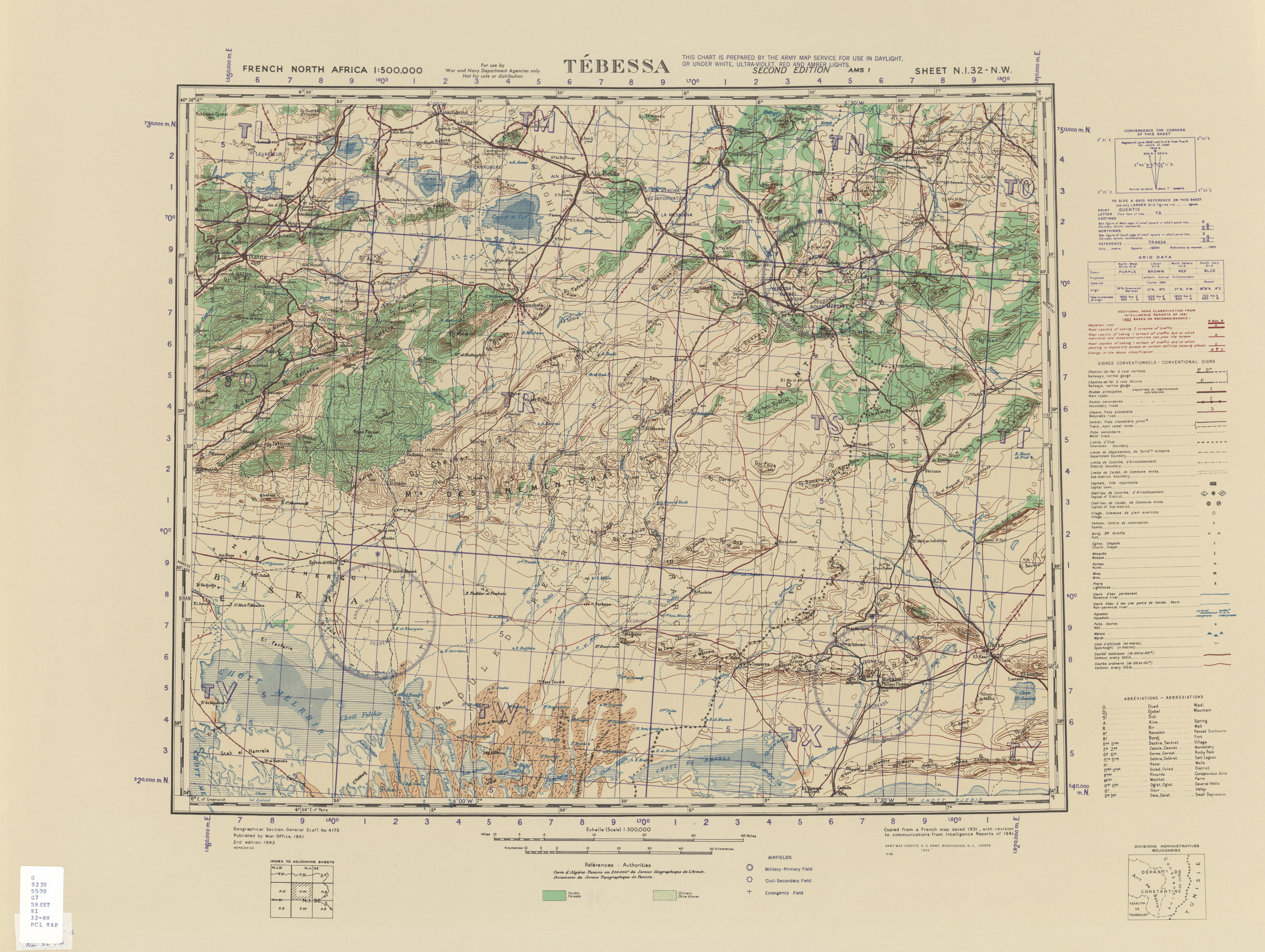 French North Africa Topographic Maps PerryCastaeda Map