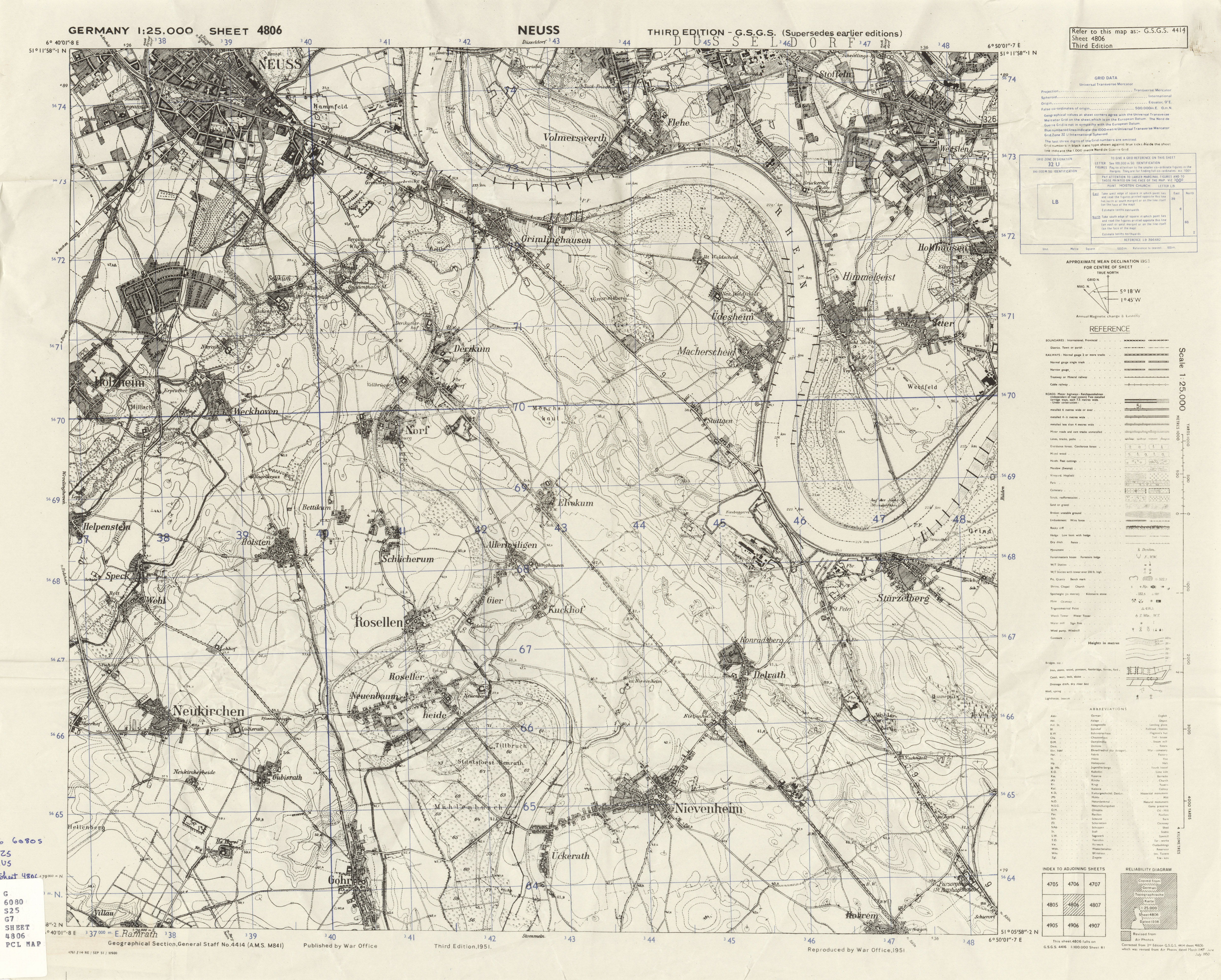 Germany AMS Topographic Maps PerryCastaeda Map Collection UT