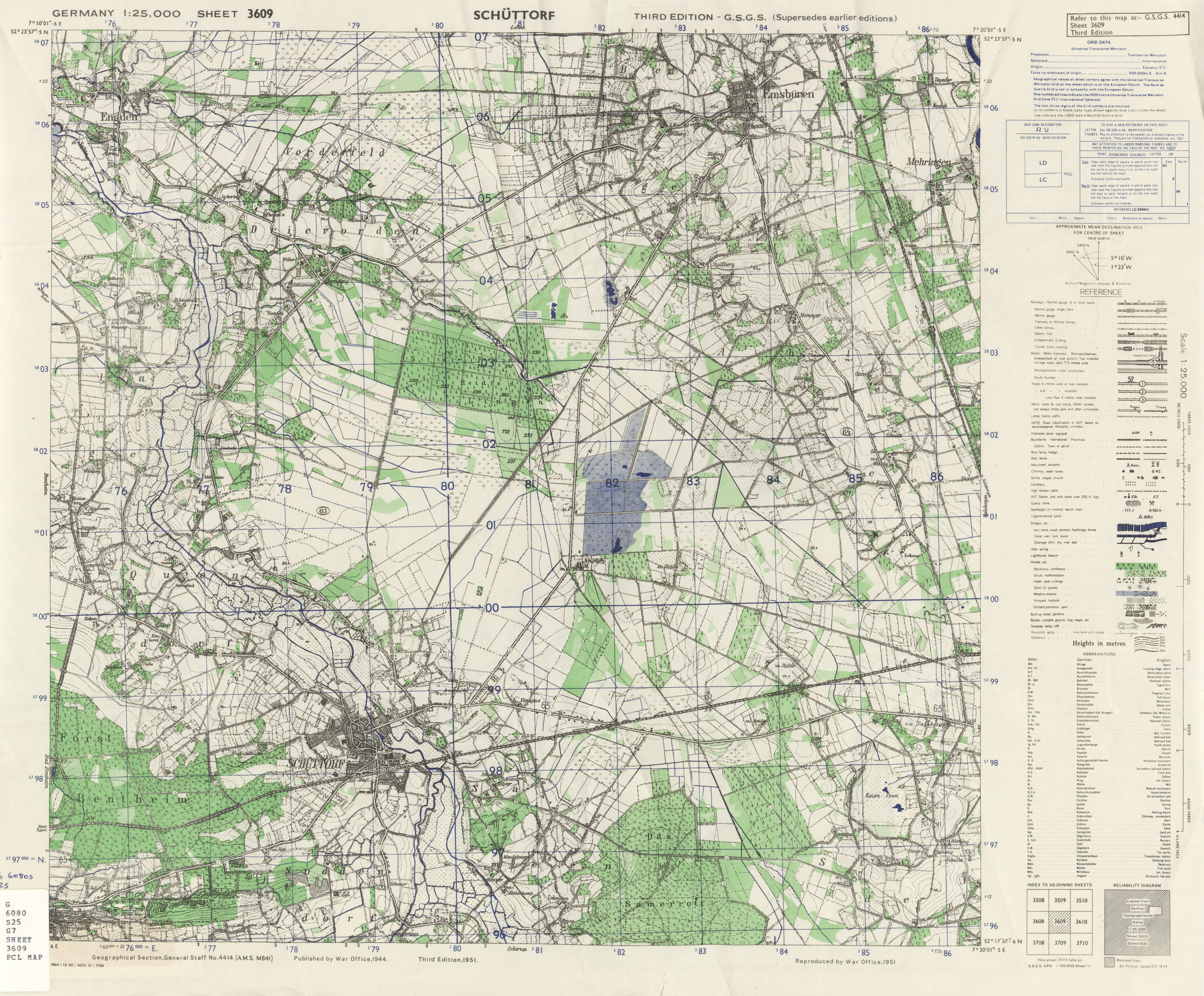 Germany AMS Topographic Maps - Perry-Castañeda Map Collection - UT