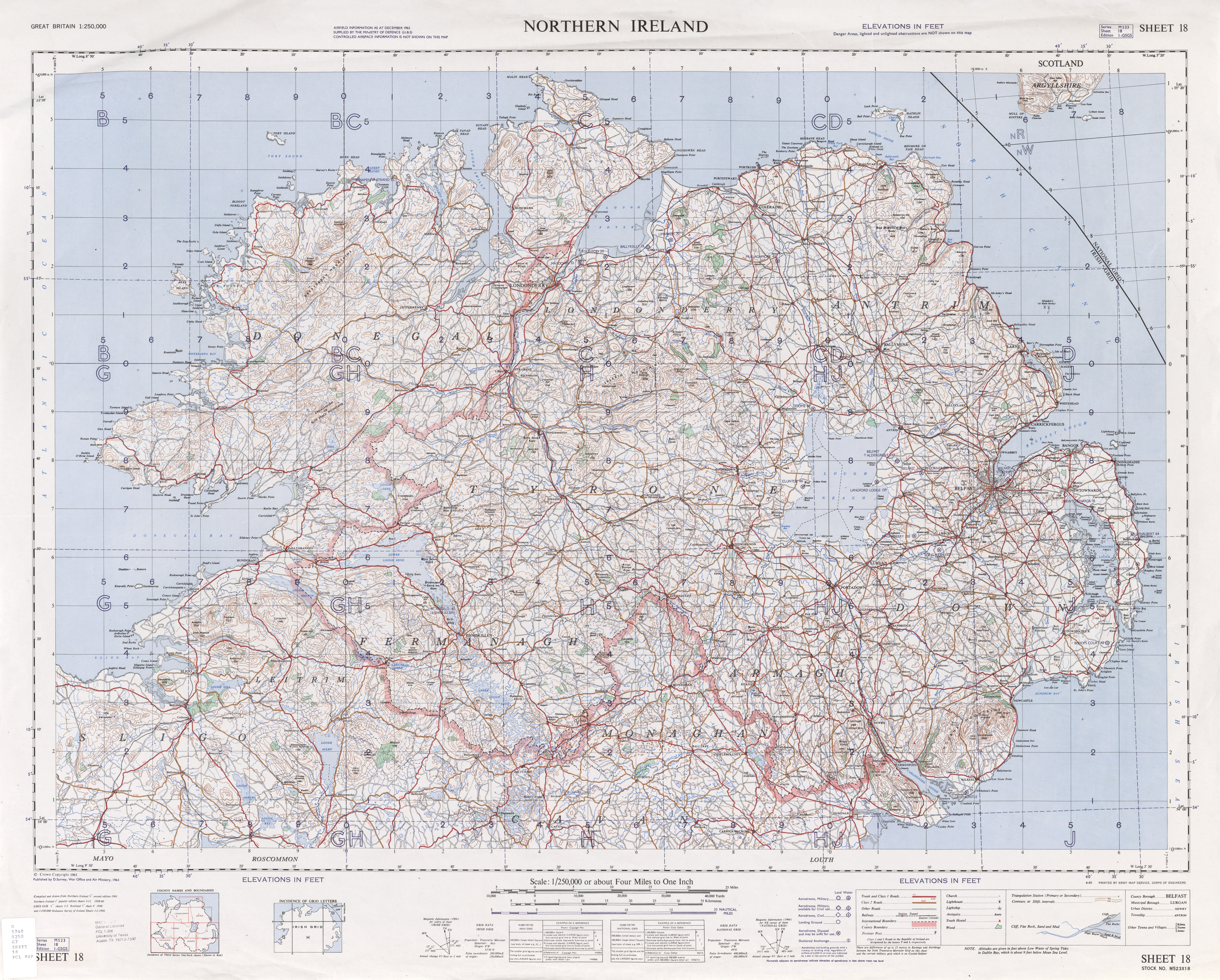 Great Britain AMS Topographic Maps - Perry-Castañeda Map