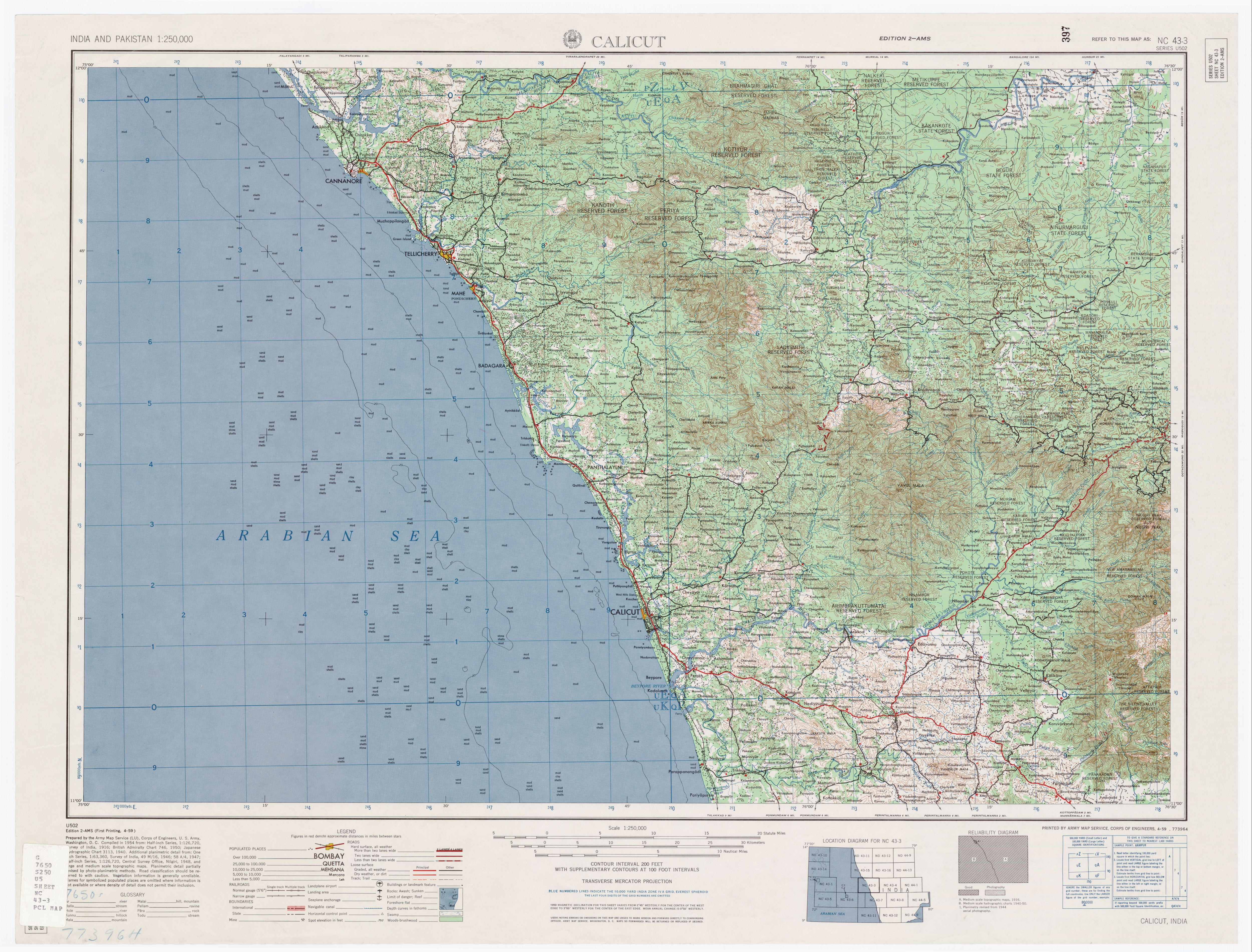 India And Pakistan AMS Topographic Maps PerryCastañeda Map - Us army travel map