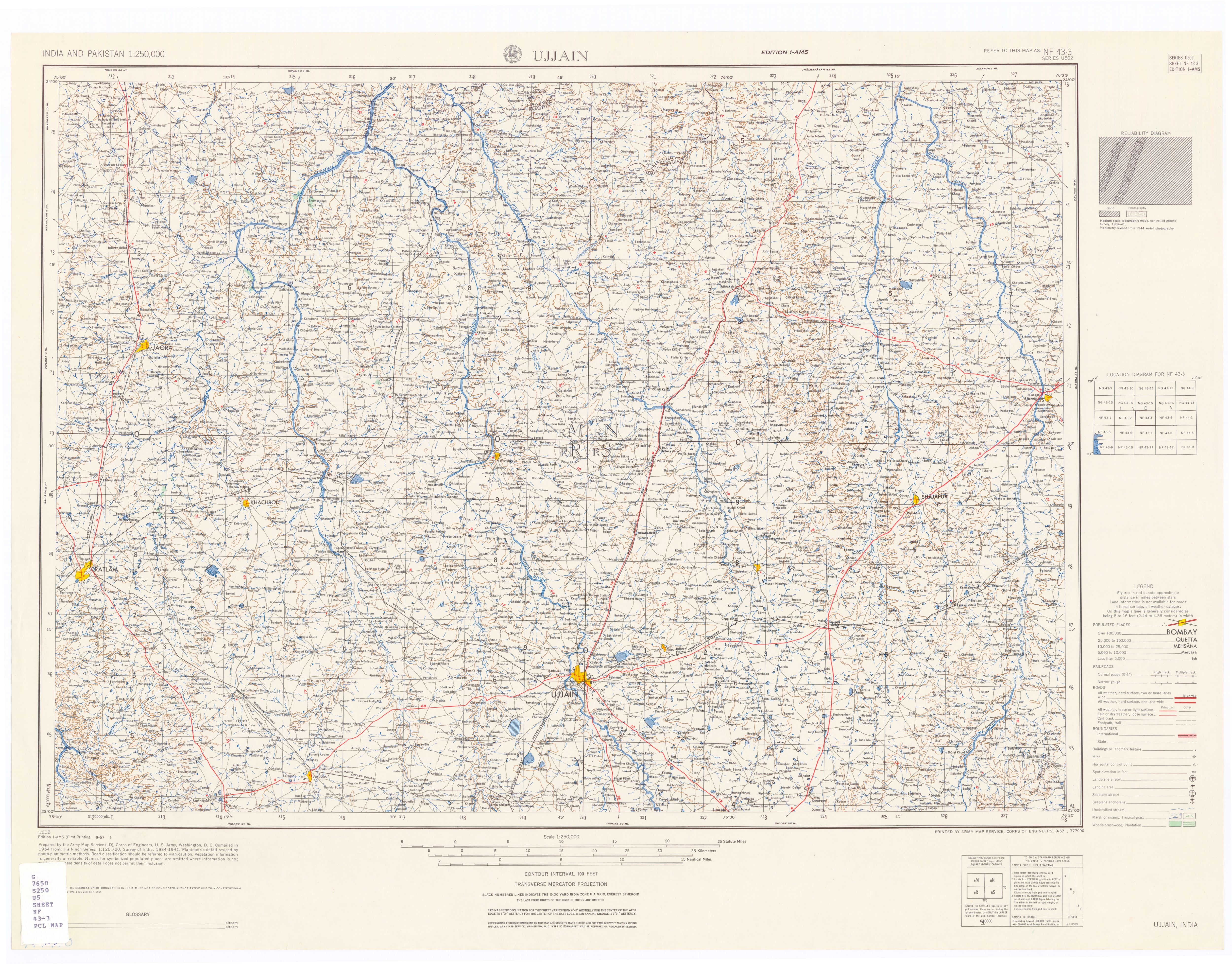 India And Pakistan Ams Topographic Maps Perry Castaneda Map - Us-army-maps-india