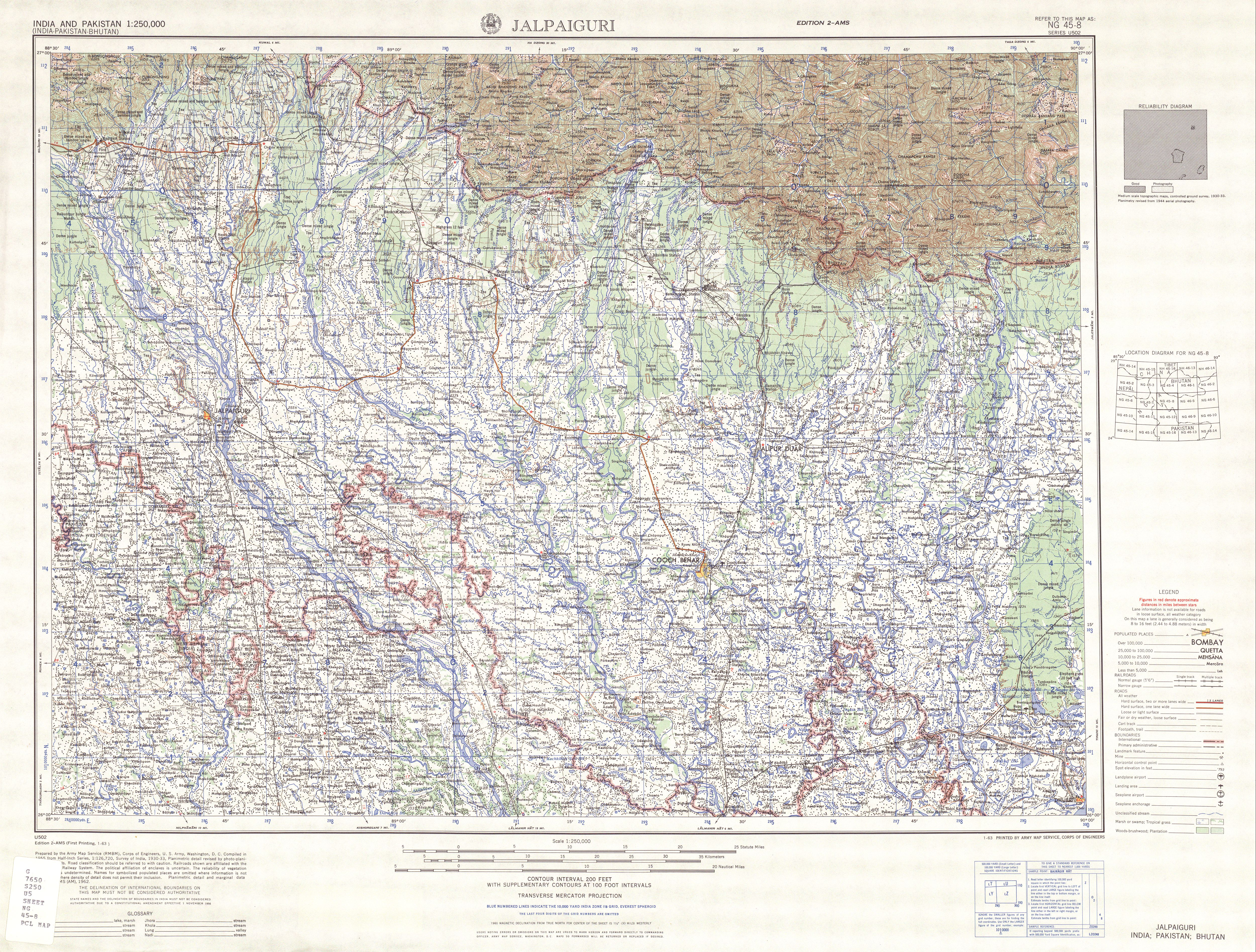 Us Army Maps India - Us-army-maps-india