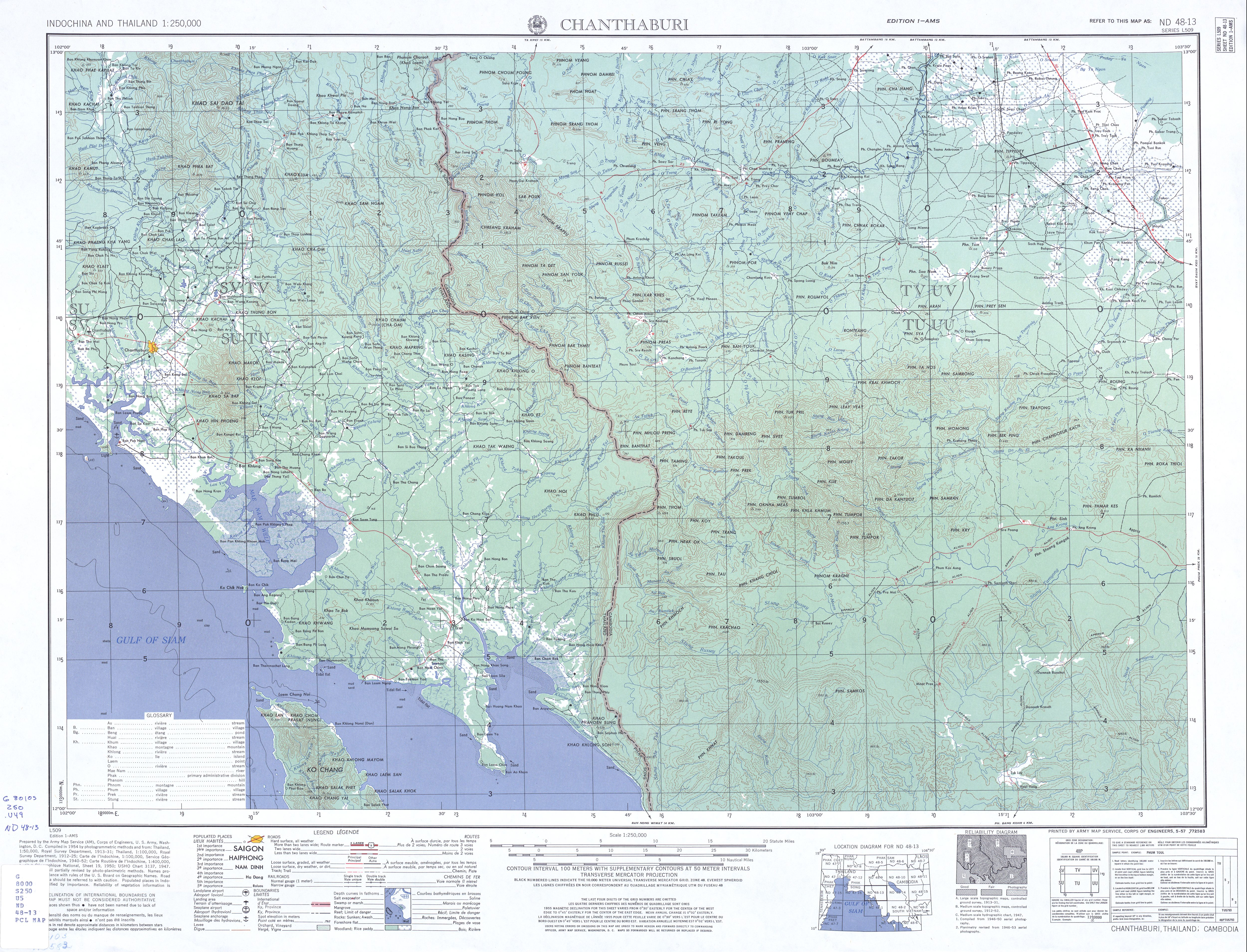 Indochina And Thailand AMS Topographic Maps PerryCastañeda Map - Us army maps kmz