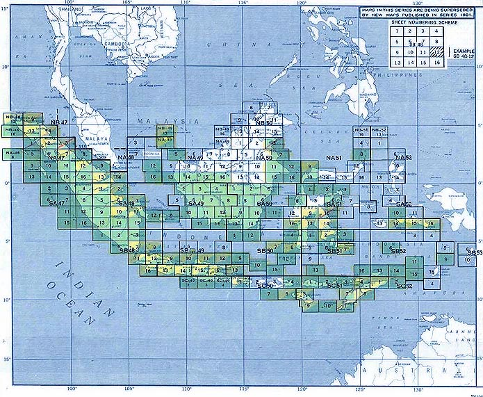 Indonesia AMS Topographic Maps - Perry-Castañeda Map ...