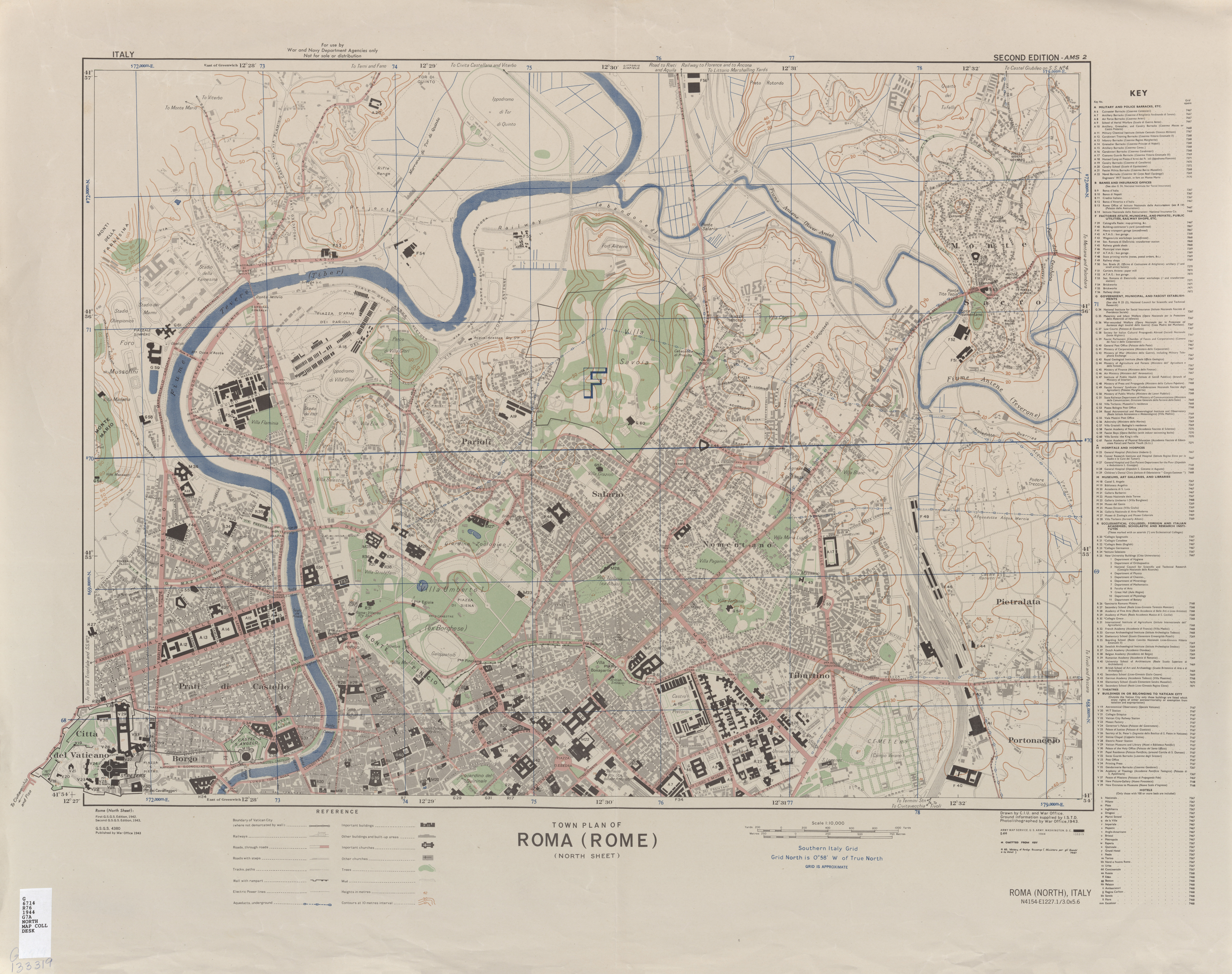 Italy AMS Topographic Maps PerryCastaeda Map Collection UT