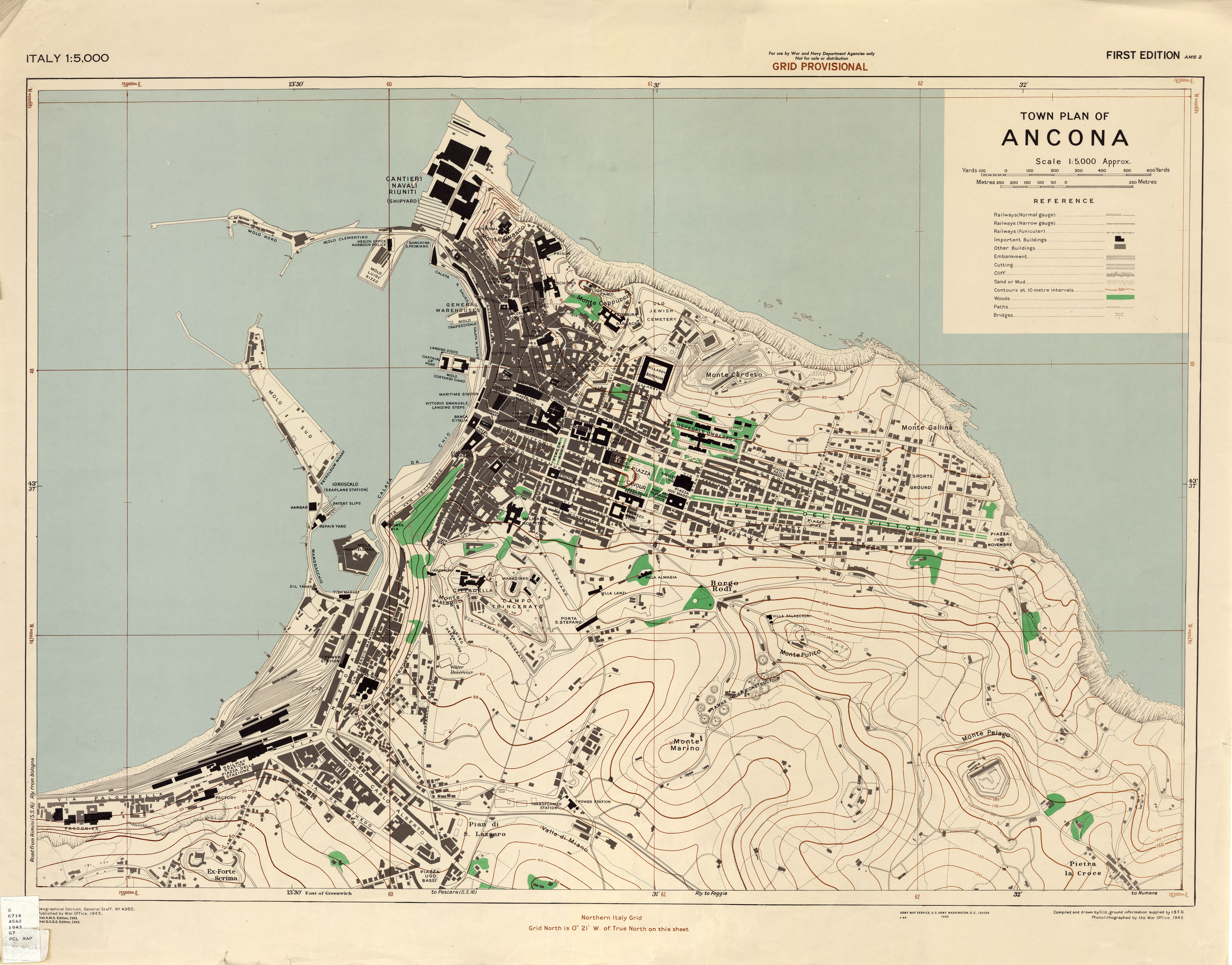 Map of ancona italy