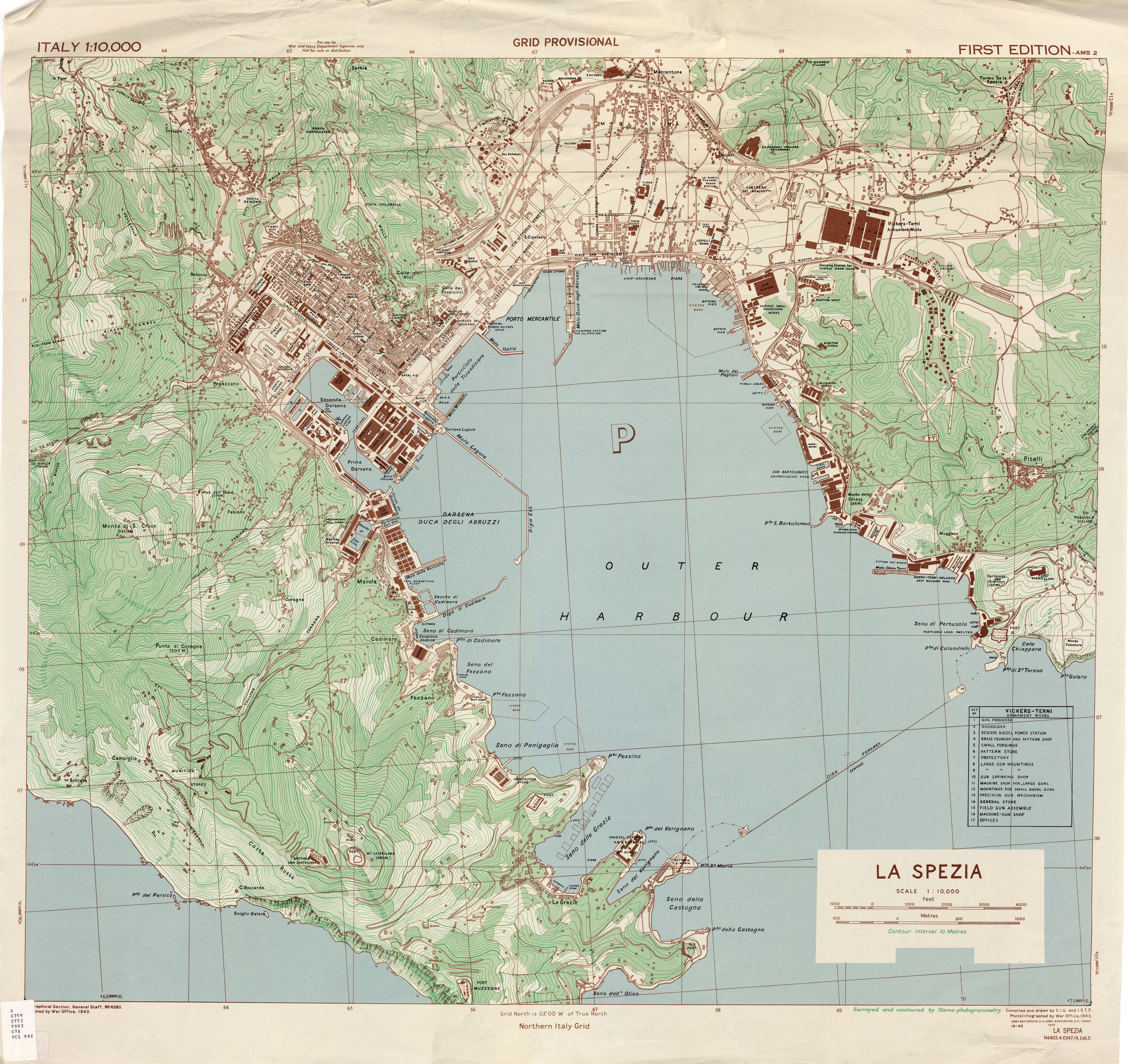 Italy city plans ams topographic maps perry castaeda map 110000 1943 84mb thecheapjerseys Choice Image