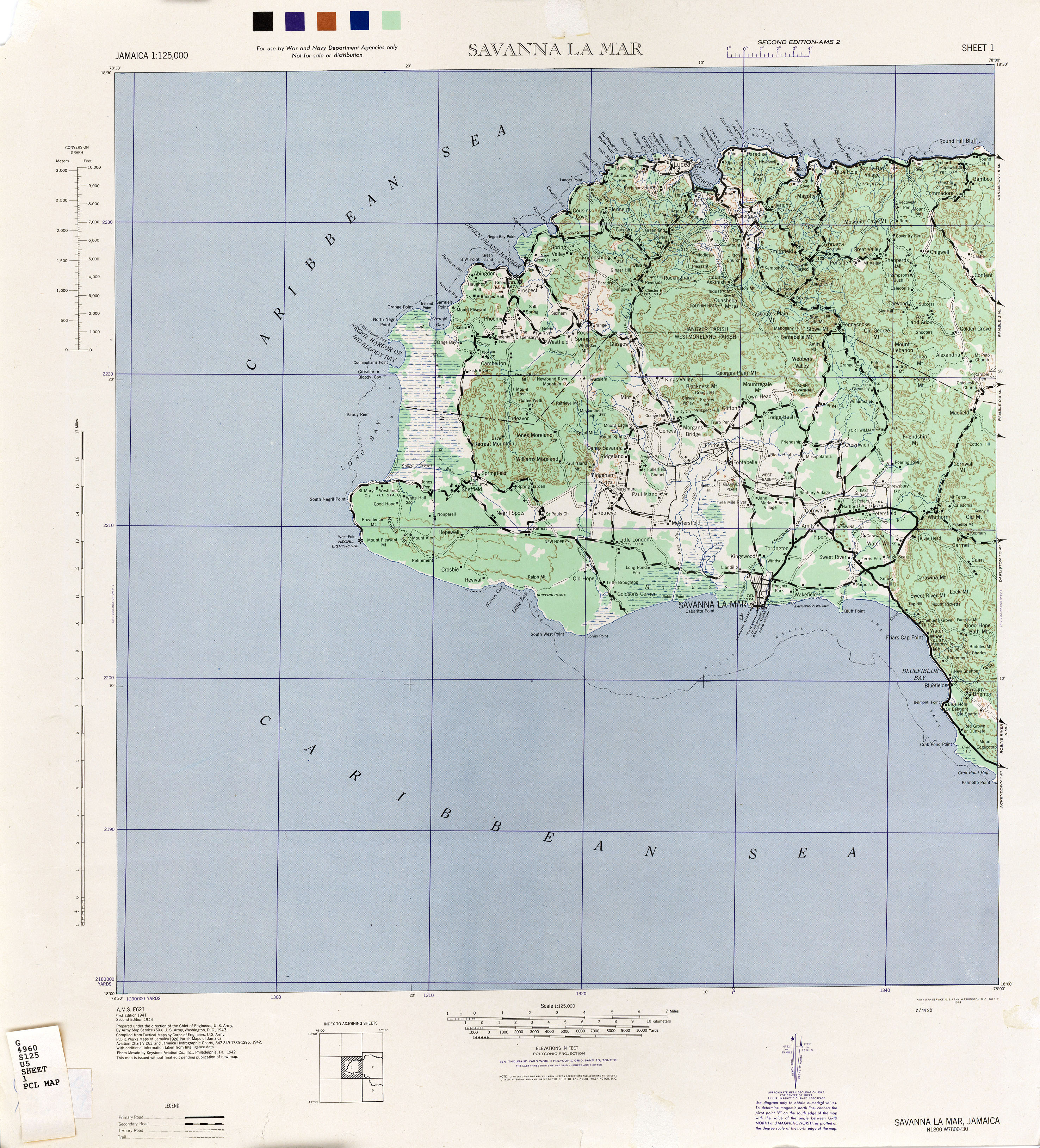 Jamaica AMS Topographic Maps - Perry-Castañeda Map Collection - UT ...