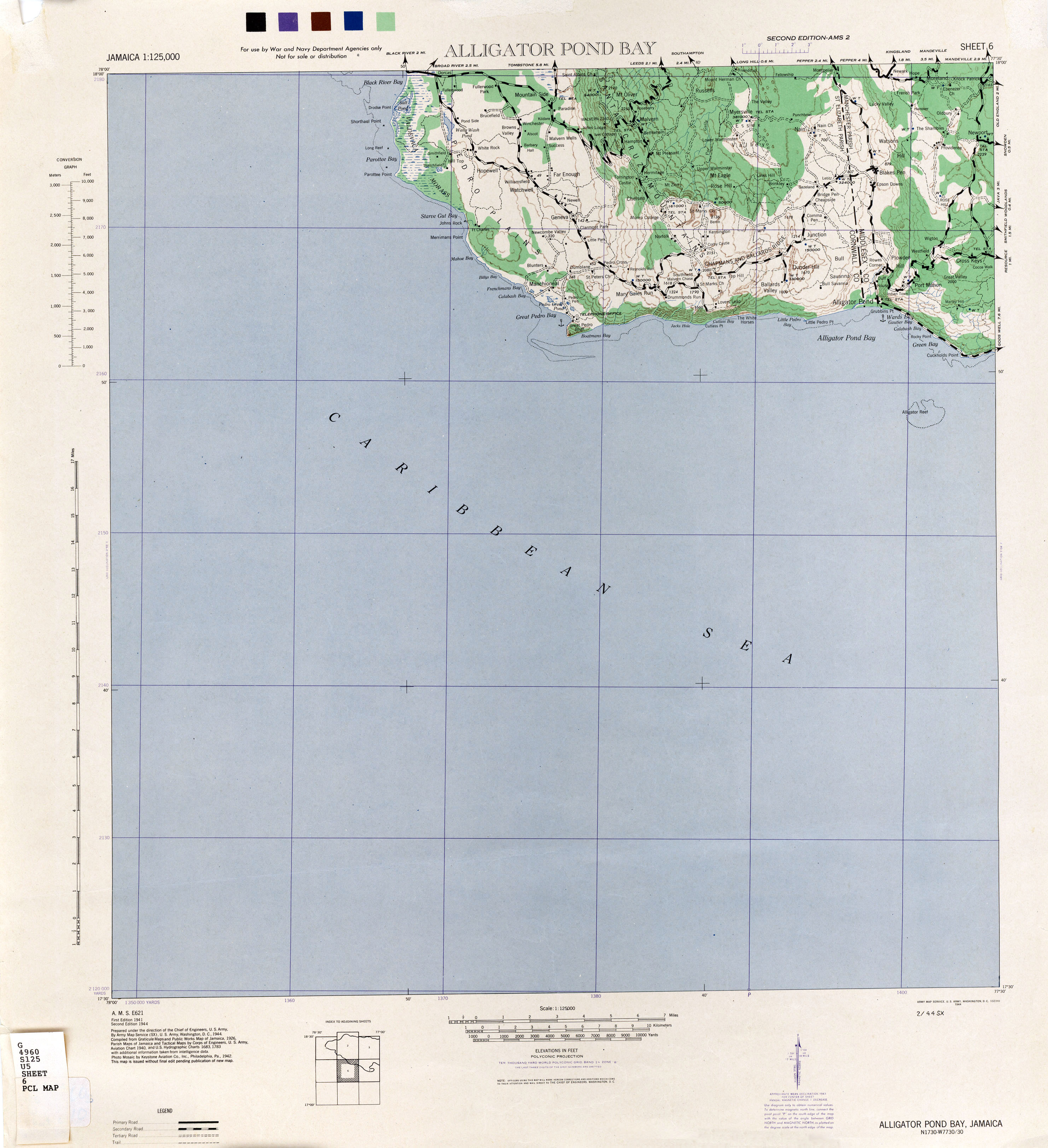 Jamaica AMS Topographic Maps PerryCastañeda Map Collection UT - Map of us and jamaica